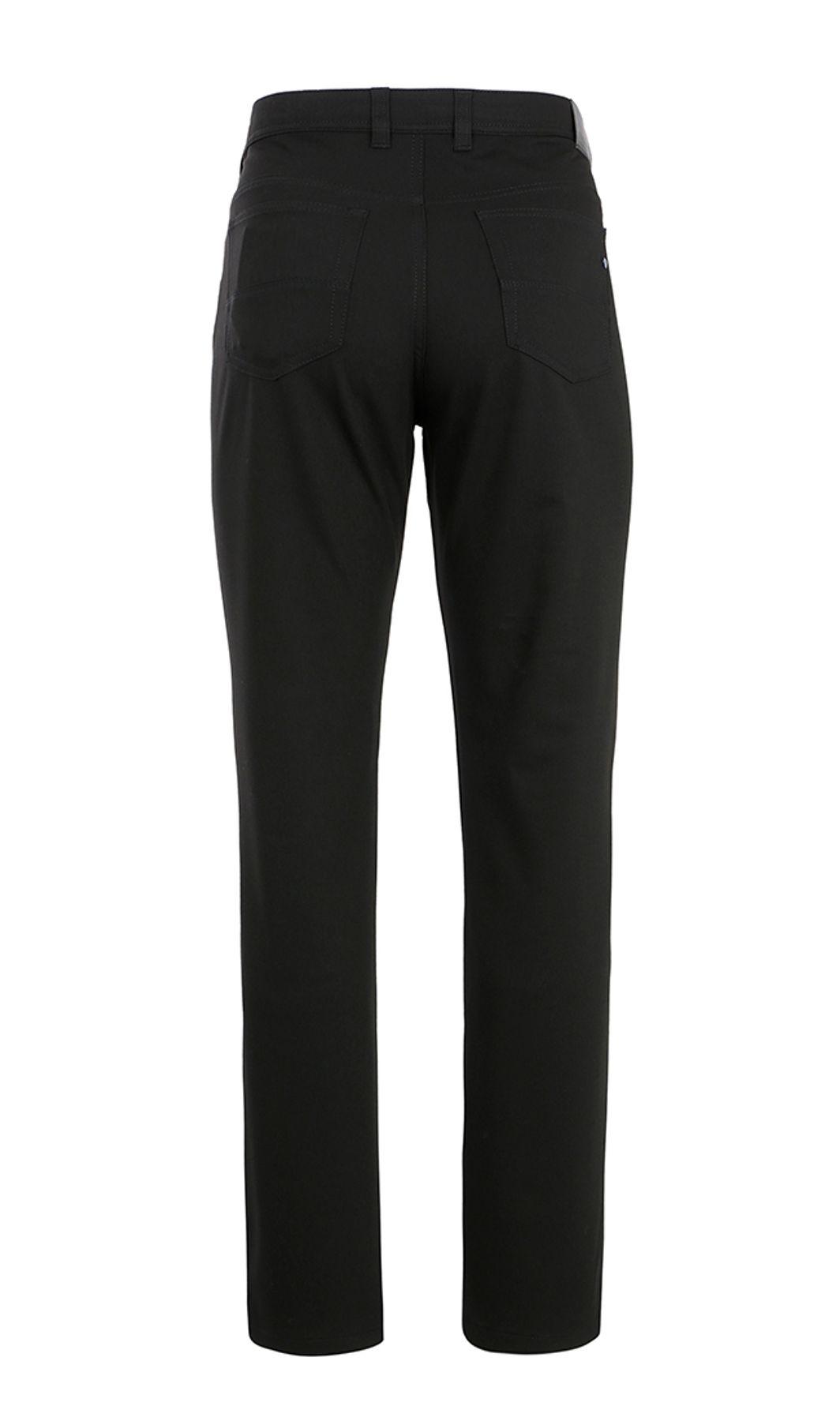 Brühl - Herren 5-Pocket Hose in Wolloptik in schwarz, Genua 1 (0289110200100) – Bild 2