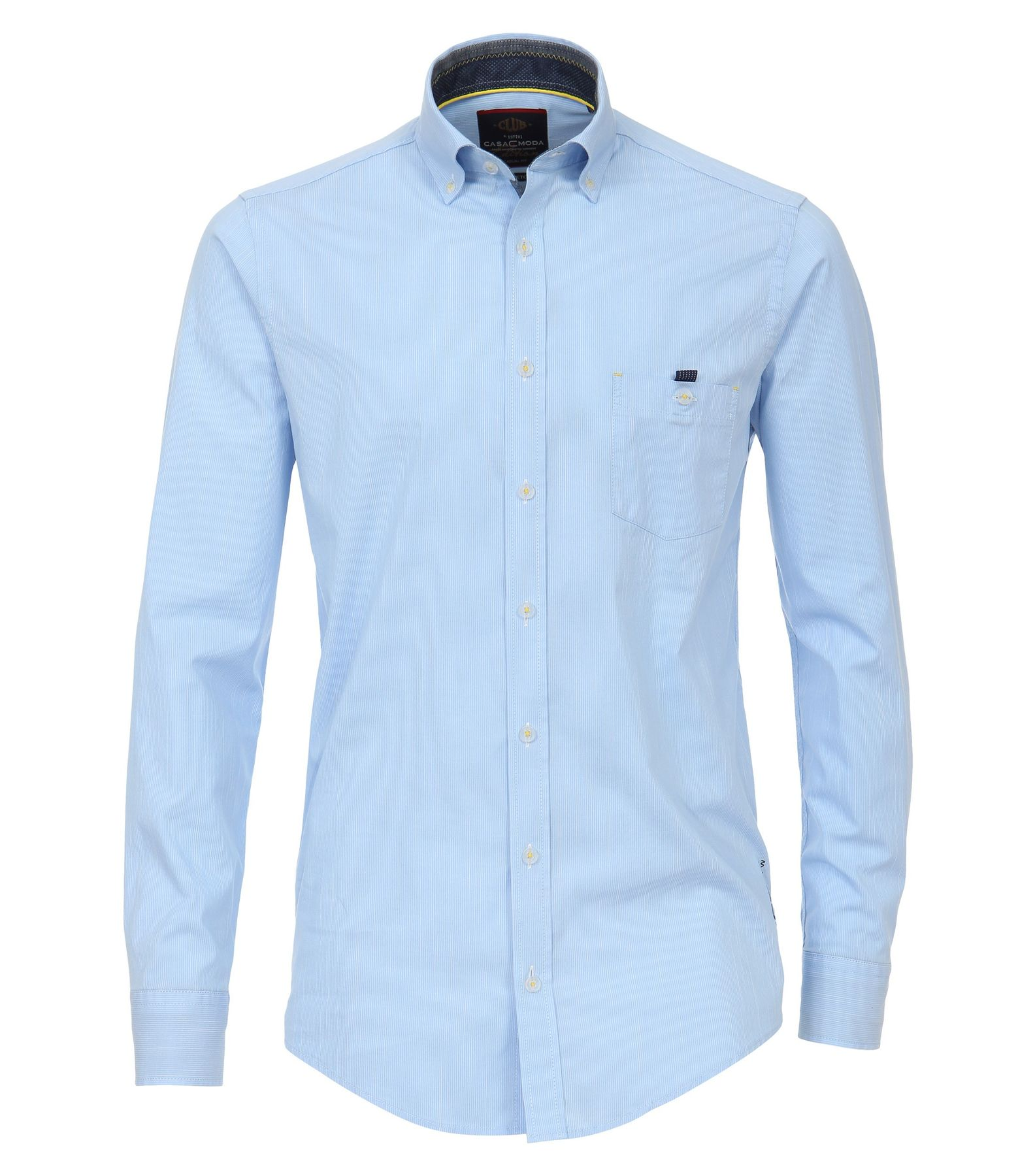 Casa Moda - Casual Fit - Herren Hemd gestreift mit Button Down-Kragen in blau (482898500)