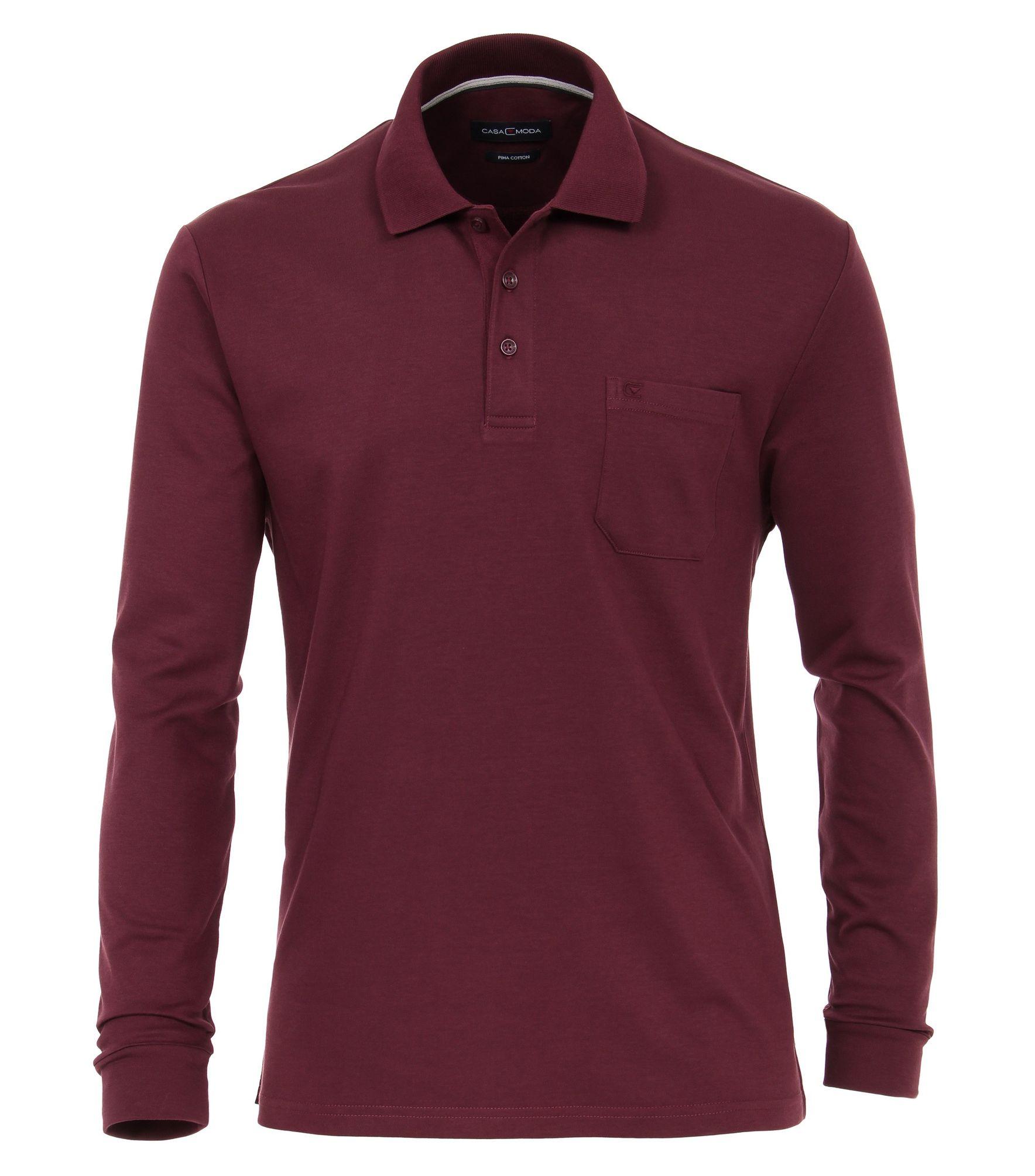 776a13982e29 Casa Moda - Herren Polo-Shirt Langarm unifarben mit Brusttasche in  verschiedenen Farben (483002600