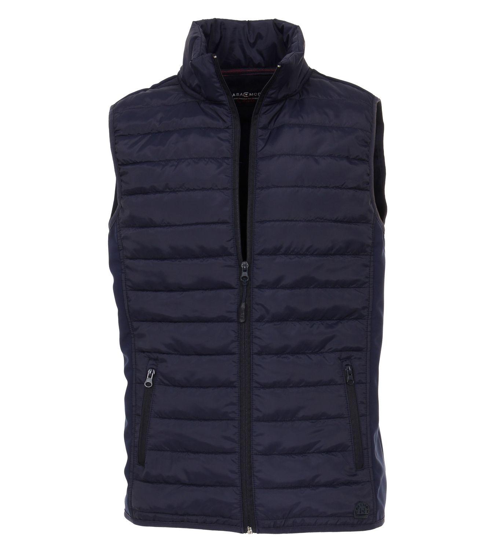 Casa Moda - Herren Sweat-Weste unifarben vorne modisch gesteppt mit Reißverschluss in blau oder rot (482882800) 001