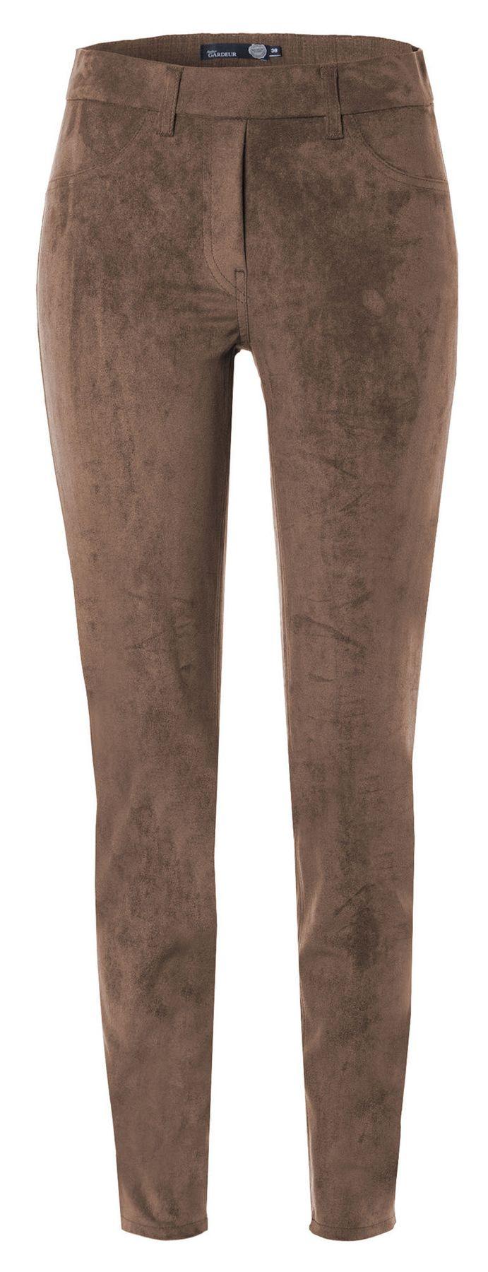 Atelier Gardeur - Modern Fit - Slip On Damenhose in Velourslederoptik Zeggi4 (600711) – Bild 4