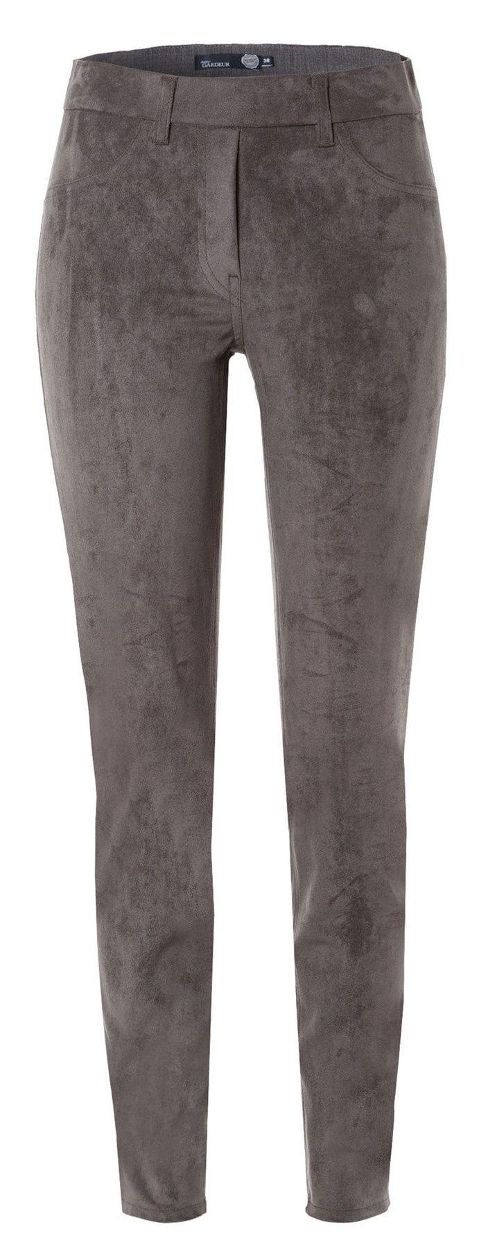 Atelier Gardeur - Modern Fit - Slip On Damenhose in Velourslederoptik Zeggi4 (600711) – Bild 7