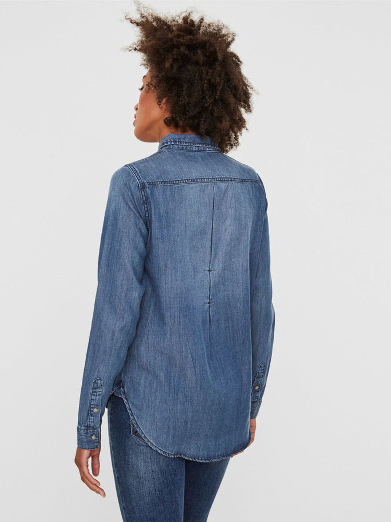 Vero Moda - Damen Jeans Bluse in Hellblau, VMSAMMI (10188573) – Bild 3 aa875ec221