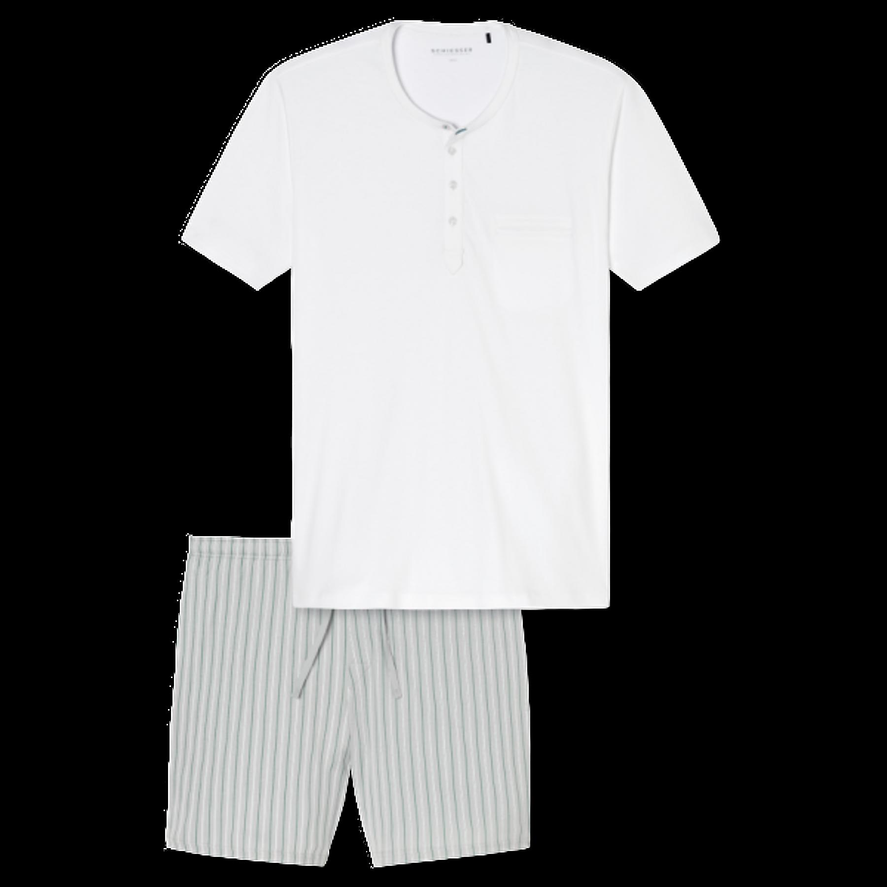 Schiesser - Herren Schlafanzug kurz - off-white (161676-102) – Bild 2