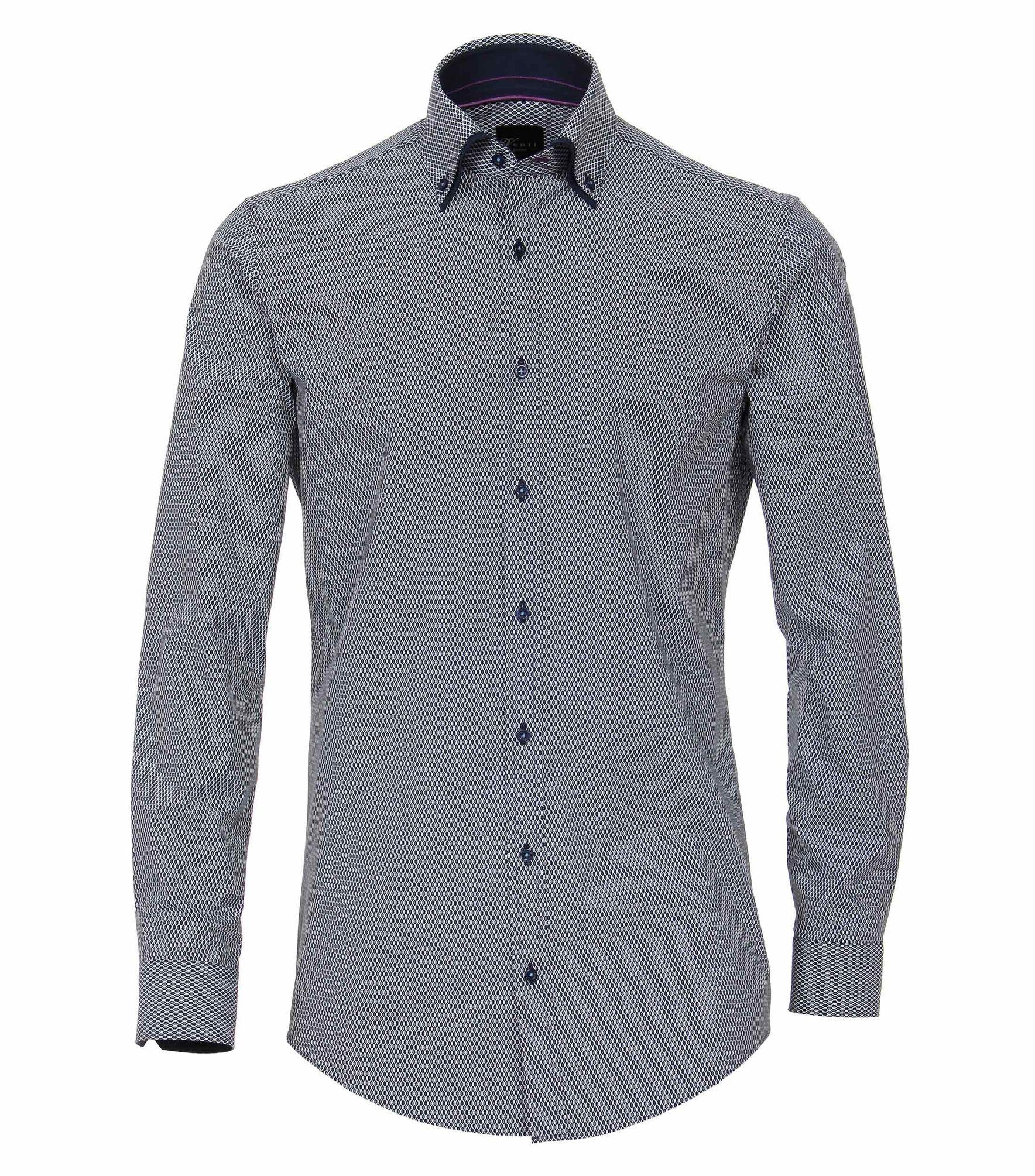 uk availability a4810 f3432 Venti - Body Fit - Herren Hemd mit modischem Druck mit Button Down-Kragen  in blau (183031300)