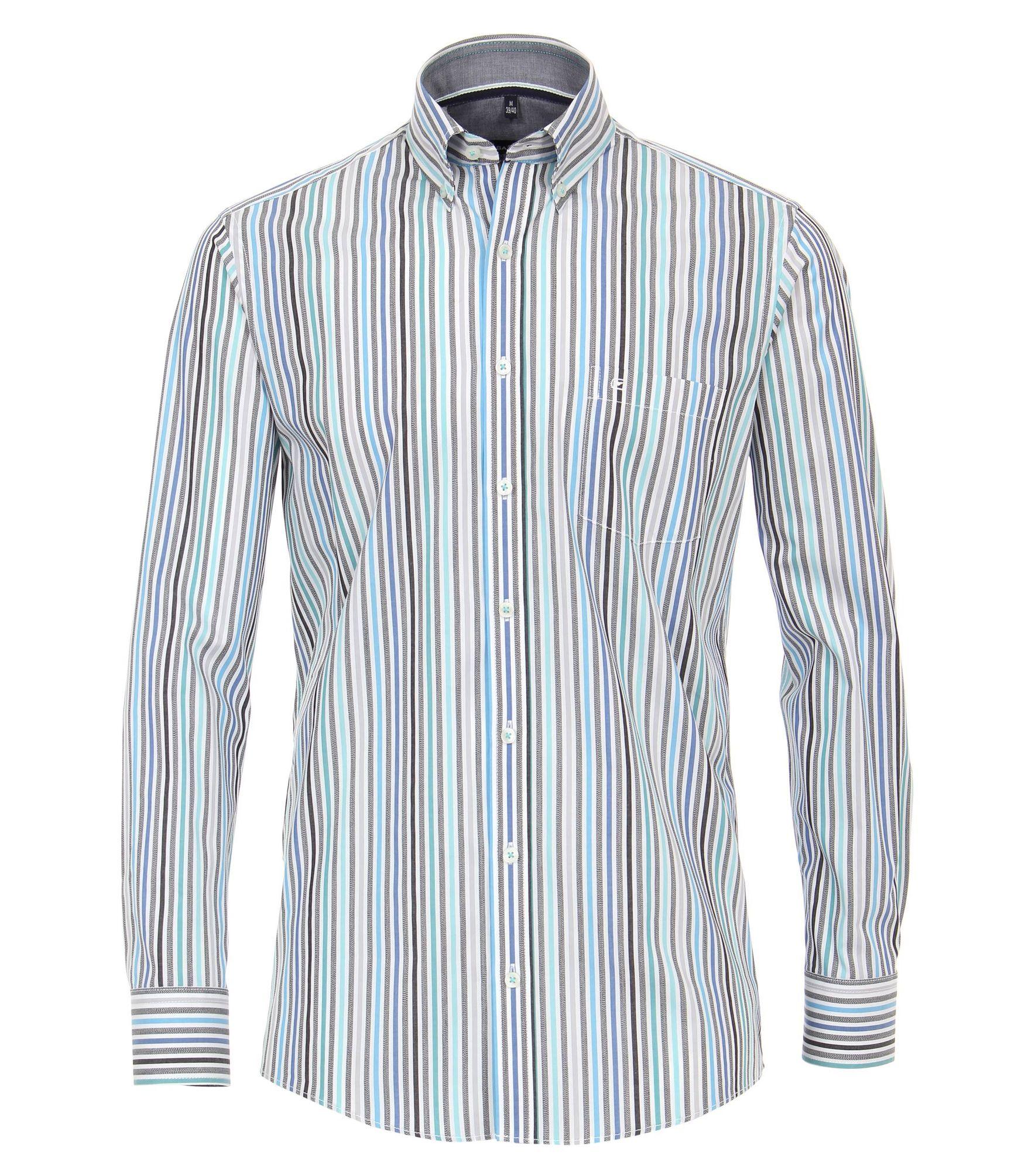new style 84790 c5102 Casa Moda - Comfort Fit - Herren Hemd gestreift mit Button Down-Kragen in  grün oder rot (493130800)