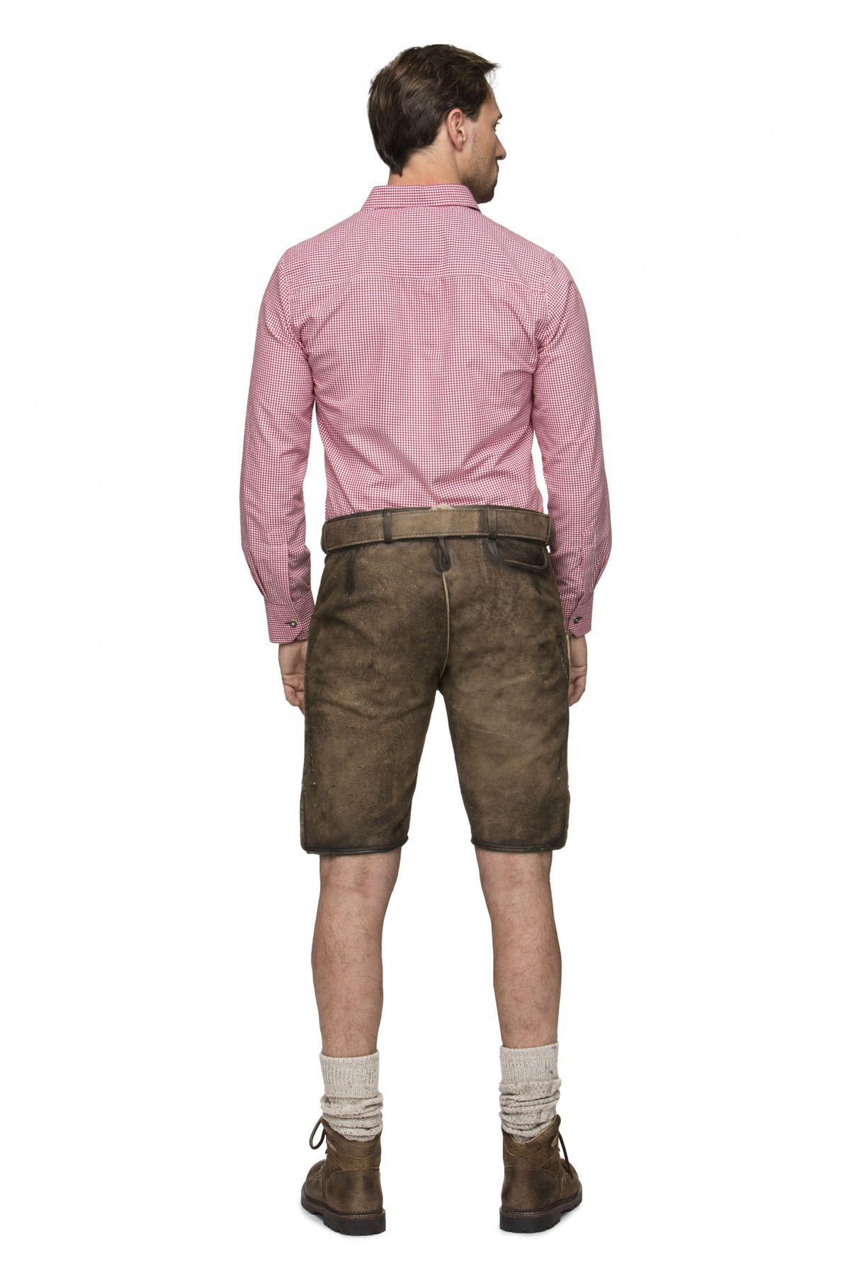 Stockerpoint - Herren Lederhose mit Gürtel, Stein Geäscht oder Korn gespeckt, Alois – Bild 8