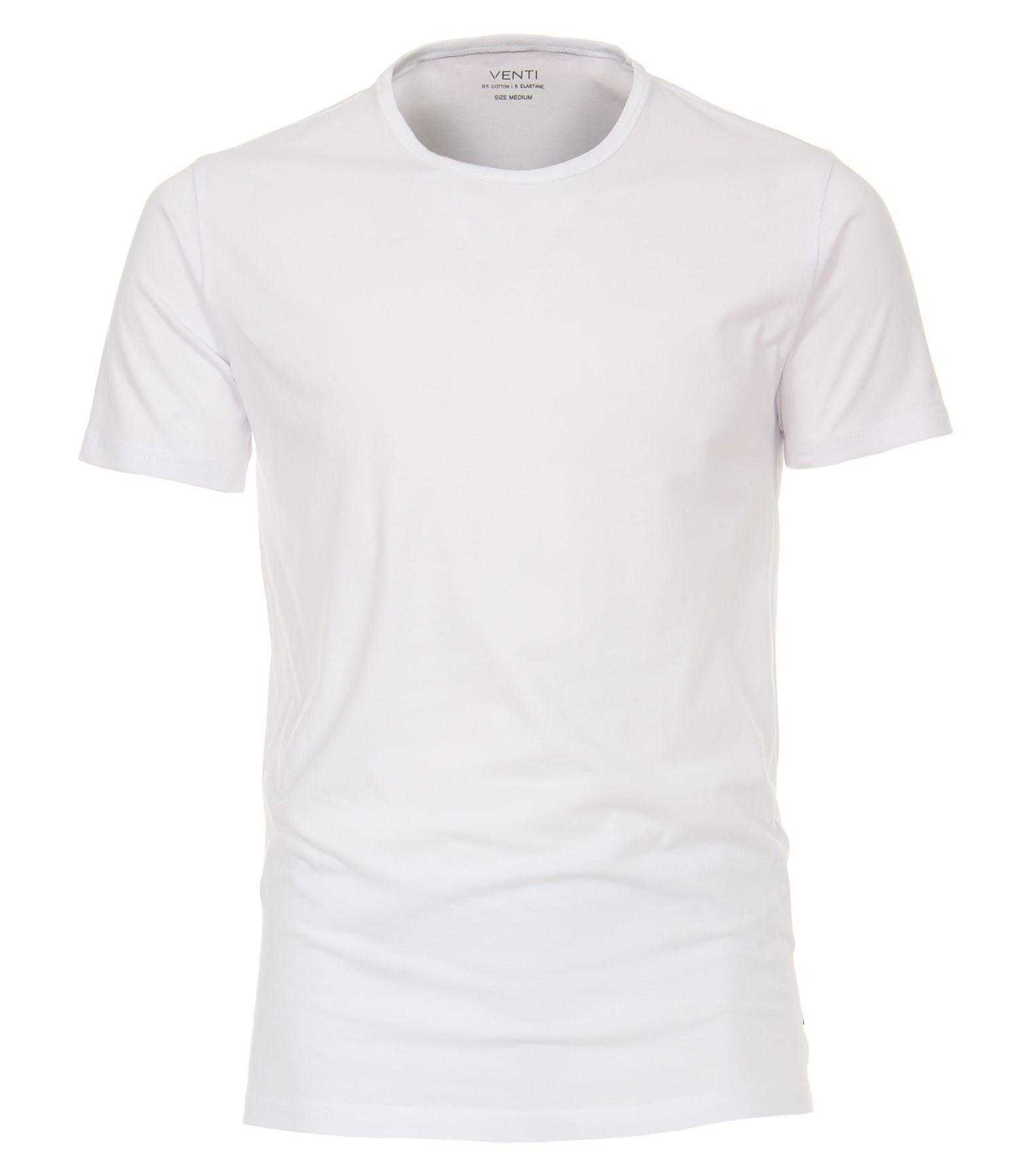 Venti - Herren T-Shirt mit Rundhals im 2er Pack, schwarz oder weiß, S-XXL (012500) – Bild 1