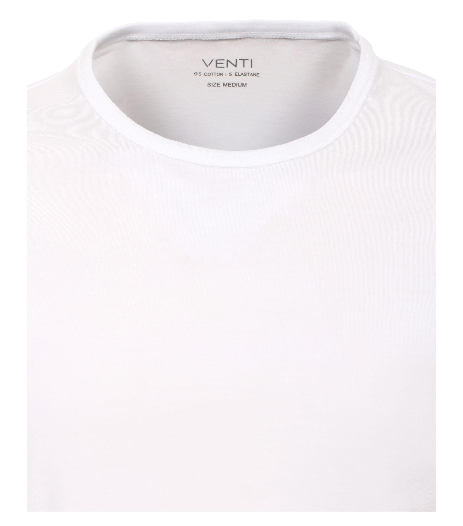 Venti - Herren T-Shirt mit Rundhals im 2er Pack, schwarz oder weiß, S-XXL (012500) – Bild 3