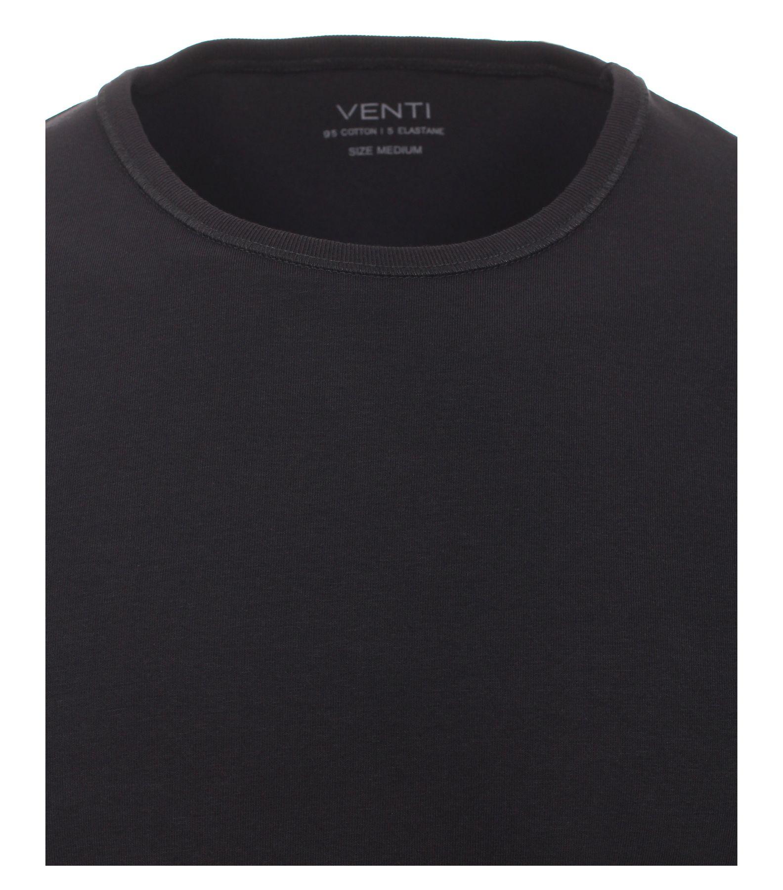 Venti - Herren T-Shirt mit Rundhals im 2er Pack, schwarz oder weiß, S-XXL (012500) – Bild 6