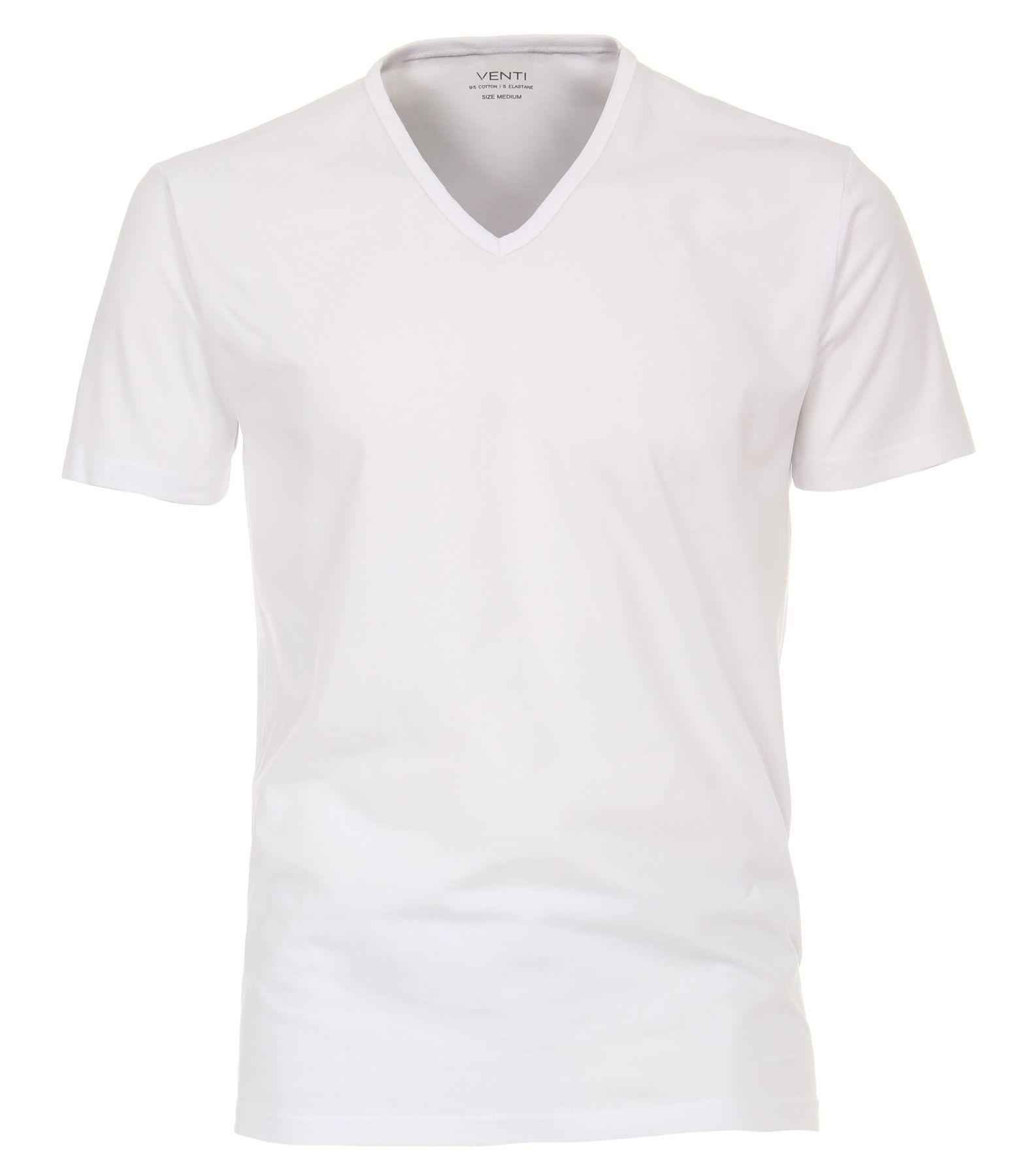 Venti - Herren T-Shirt mit V-Ausschnitt im 2er Pack, schwarz oder weiß, S-XXL (012600) – Bild 1