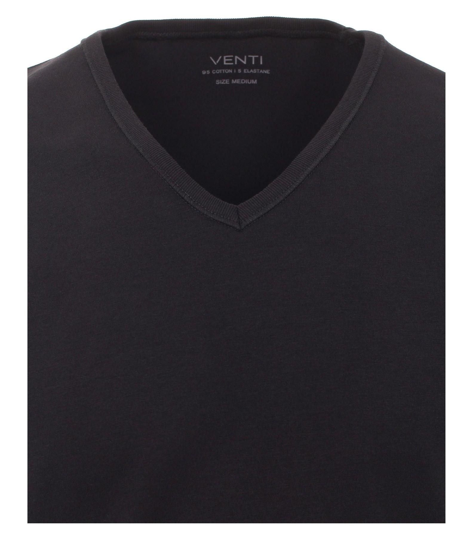 Venti - Herren T-Shirt mit V-Ausschnitt im 2er Pack, schwarz oder weiß, S-XXL (012600) – Bild 6