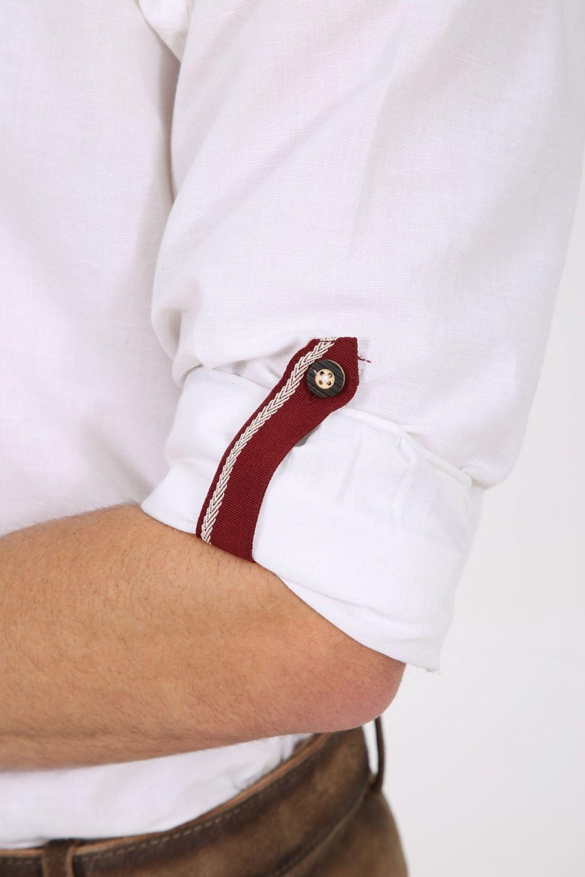Krüger - Herren Trachtenhemd in weiß/rot , James (97141-190) – Bild 4