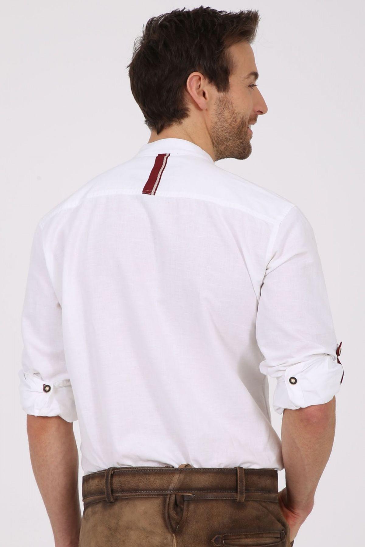 Krüger - Herren Trachtenhemd in weiß/rot , James (97141-190) – Bild 7