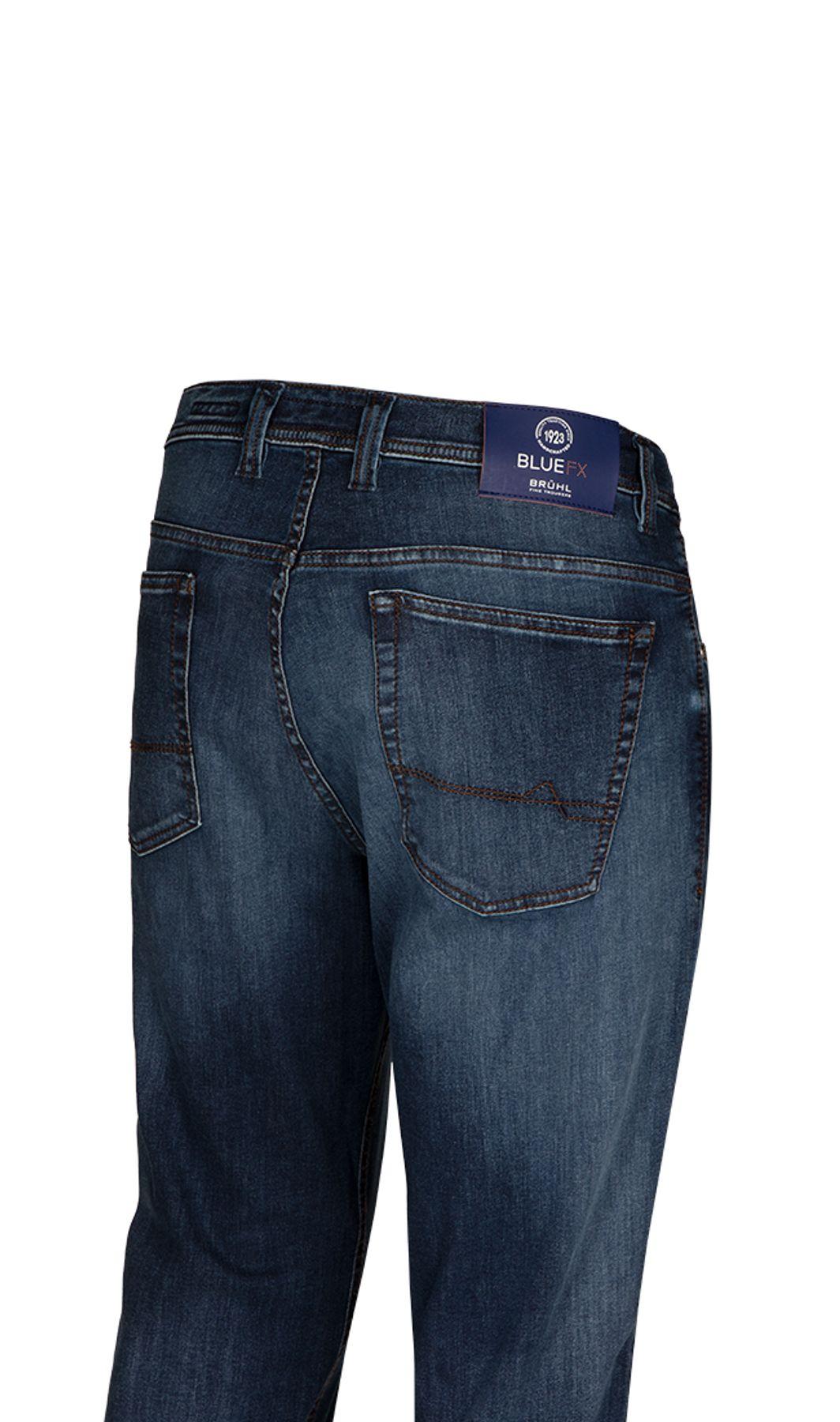 Brühl - Comfort Fit - Herren 5-Pocket Jeans in blau, York DO FX (0817191241100) – Bild 3