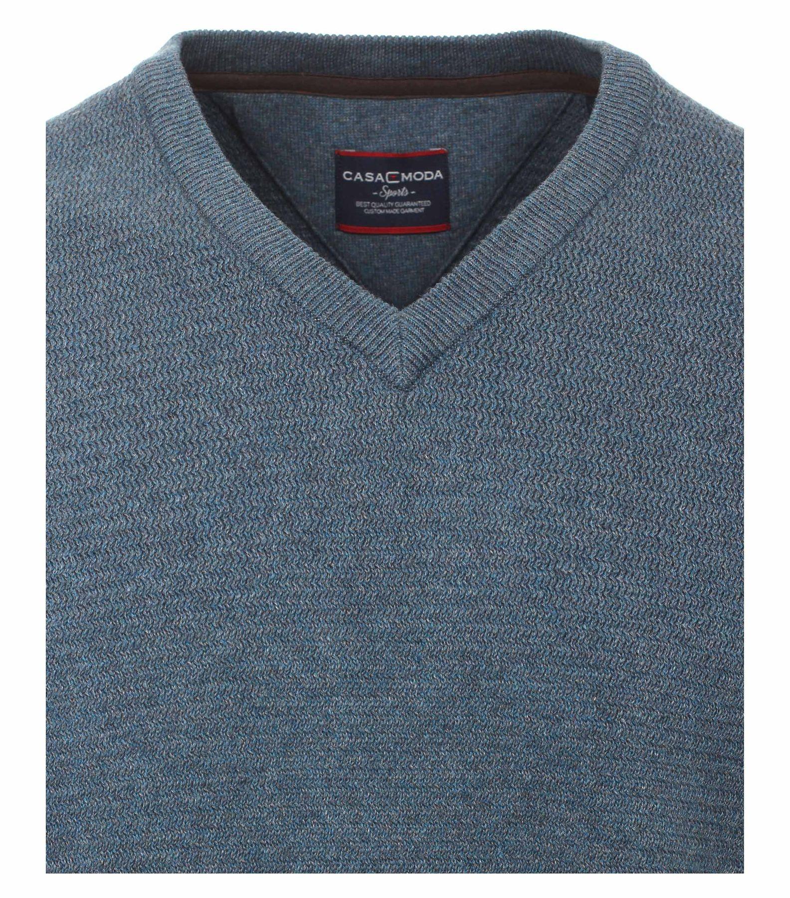 Casa Moda - Herren Pullover mit V-Ausschnitt in Melange Optik (462521200A) – Bild 3