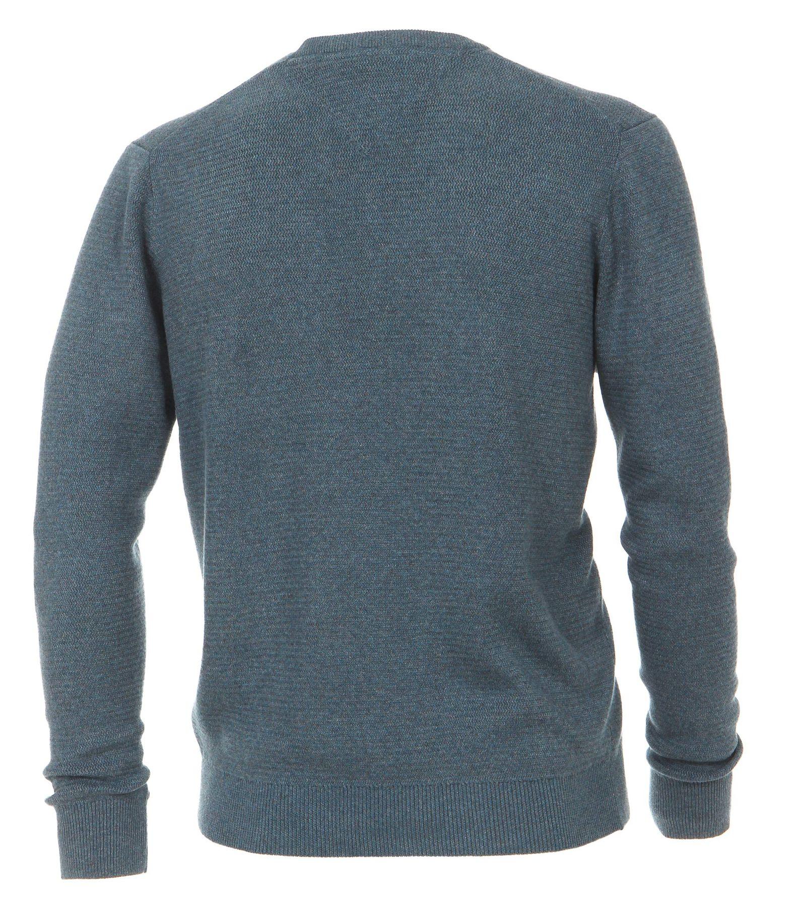 Casa Moda - Herren Pullover mit V-Ausschnitt in Melange Optik (462521200A) – Bild 2