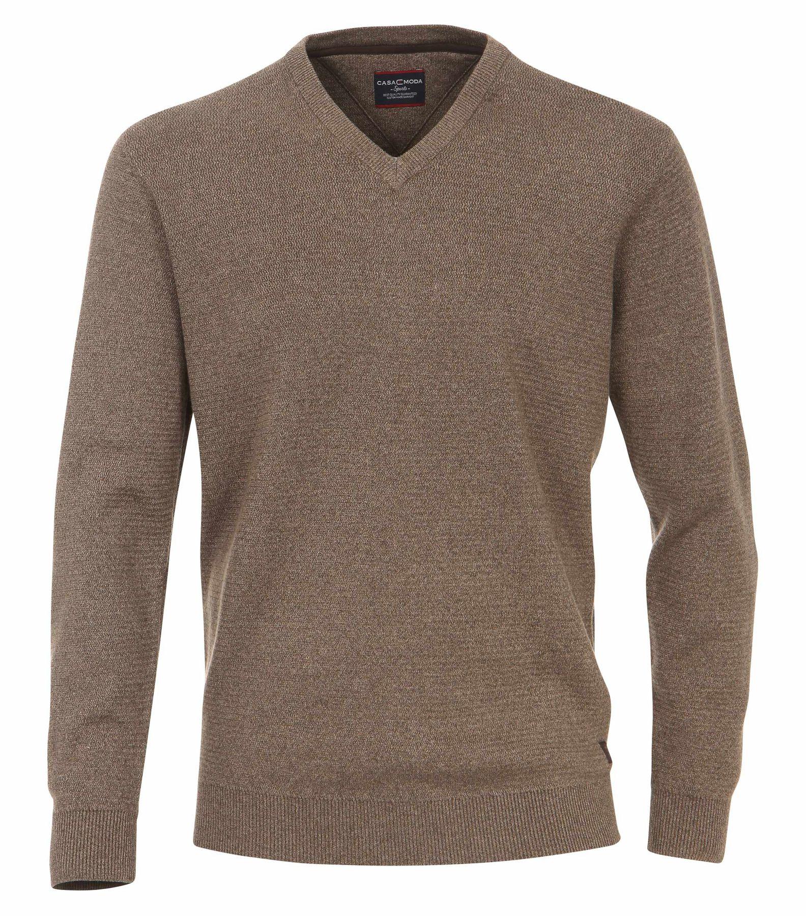 Casa Moda - Herren Pullover mit V-Ausschnitt in Melange Optik (462521200A) – Bild 13