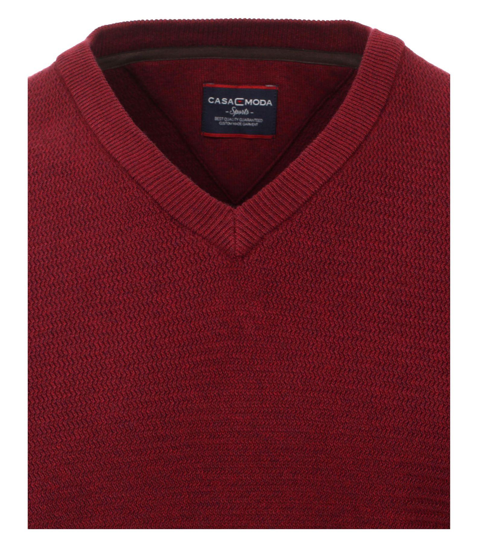 Casa Moda - Herren Pullover mit V-Ausschnitt in Melange Optik (462521200A) – Bild 12