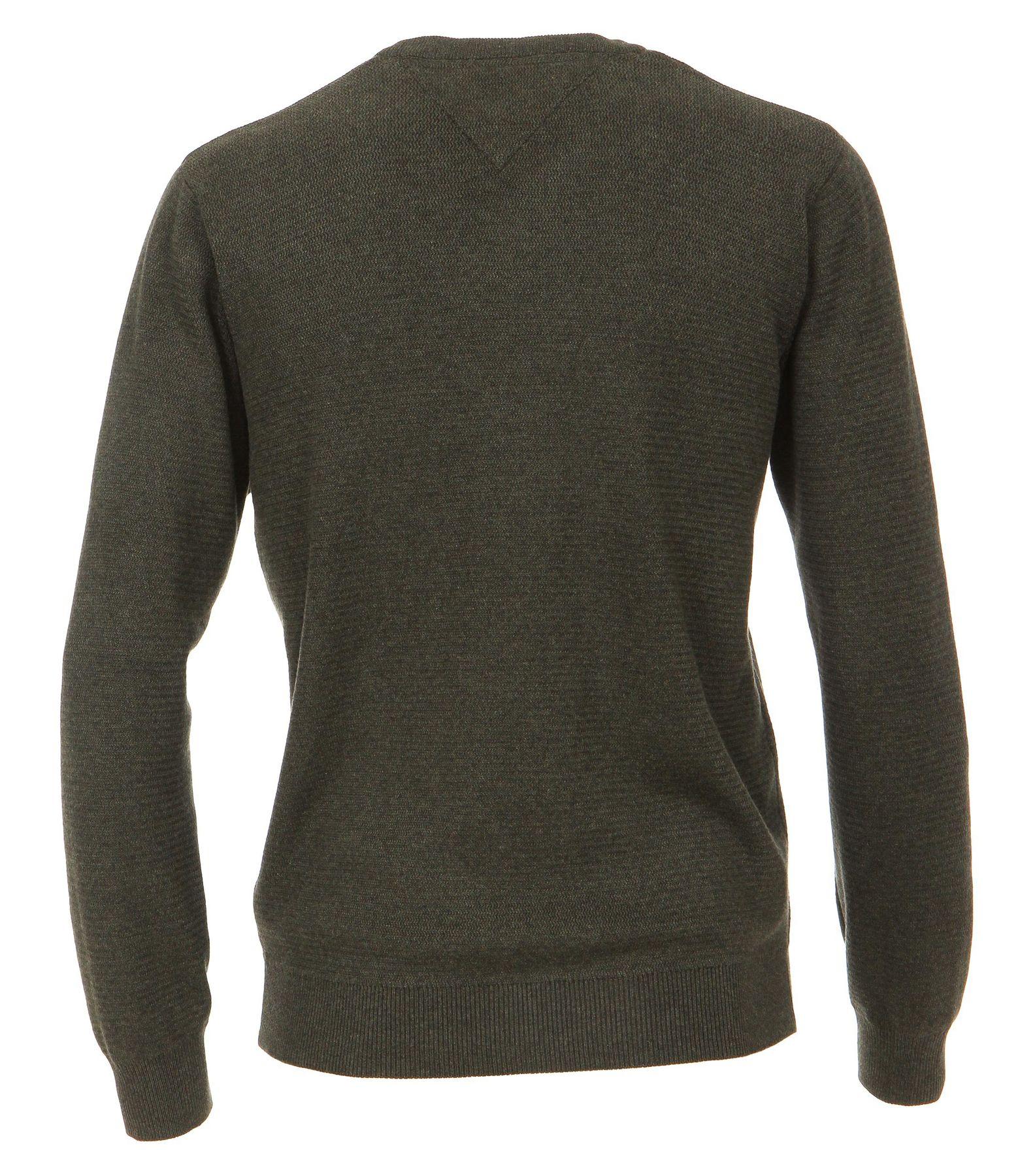 Casa Moda - Herren Pullover mit V-Ausschnitt in Melange Optik (462521200A) – Bild 17