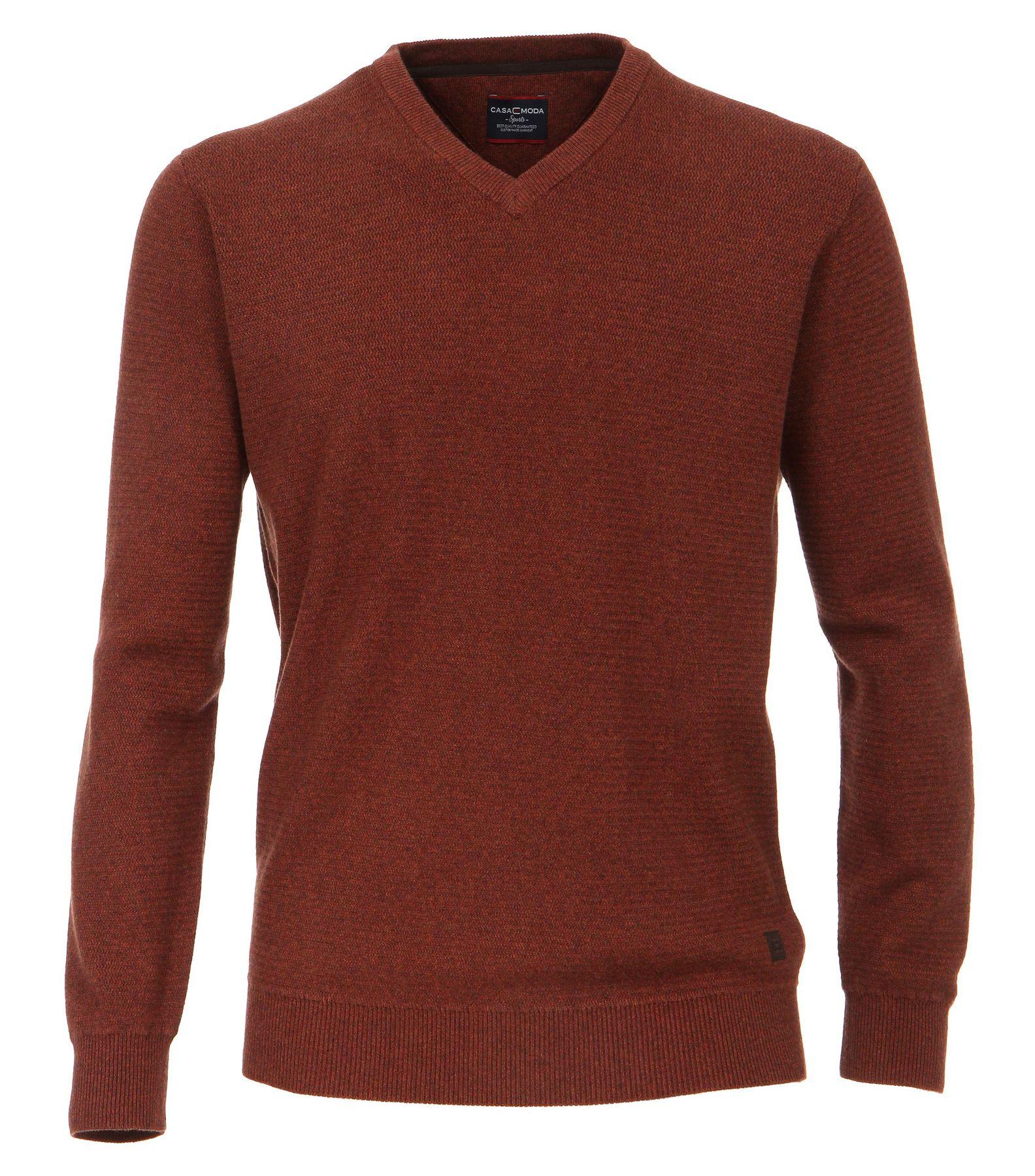 Casa Moda - Herren Pullover mit V-Ausschnitt in Melange Optik (462521200A) – Bild 20