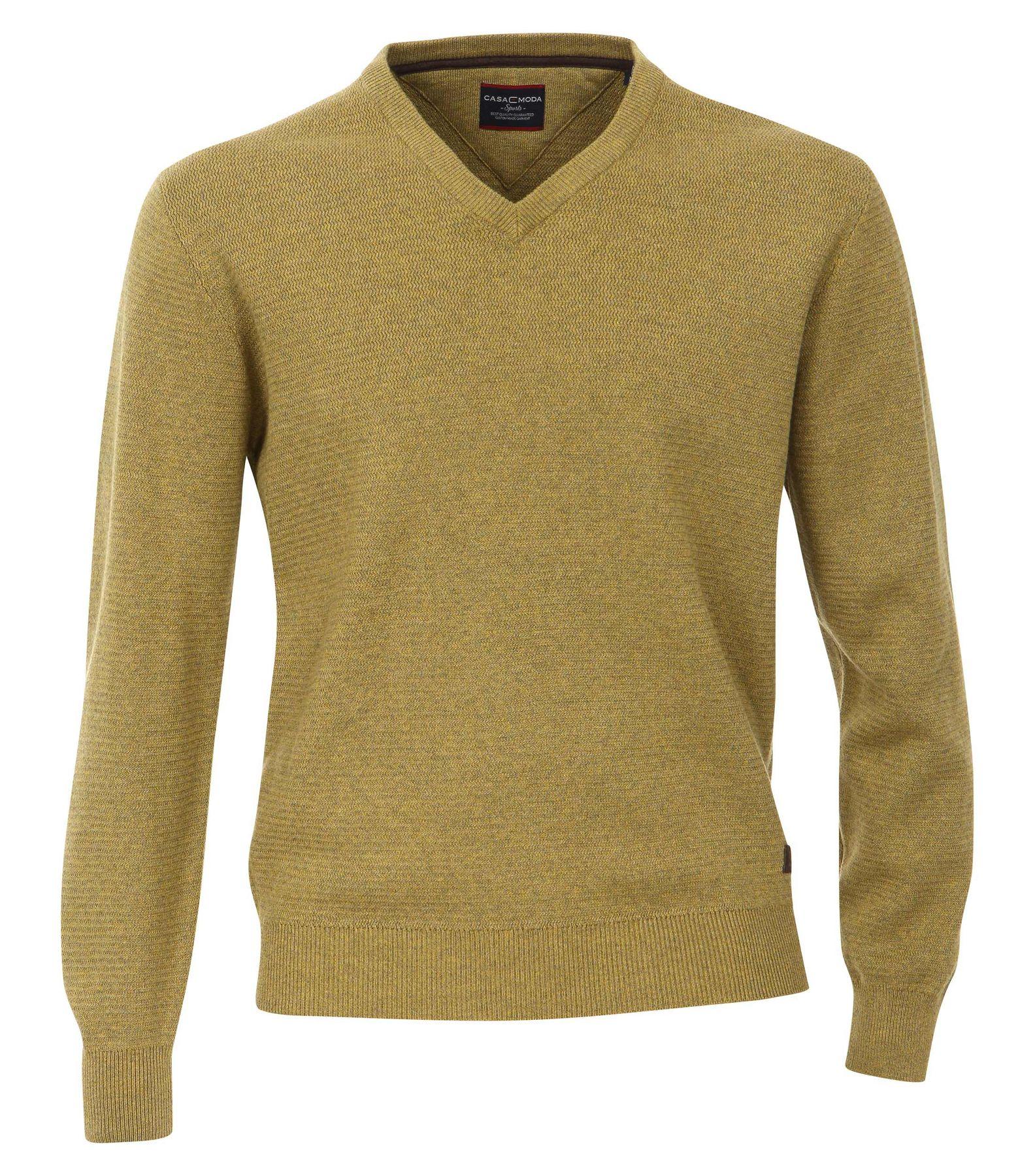 Casa Moda - Herren Pullover mit V-Ausschnitt in Melange Optik (462521200A) – Bild 19