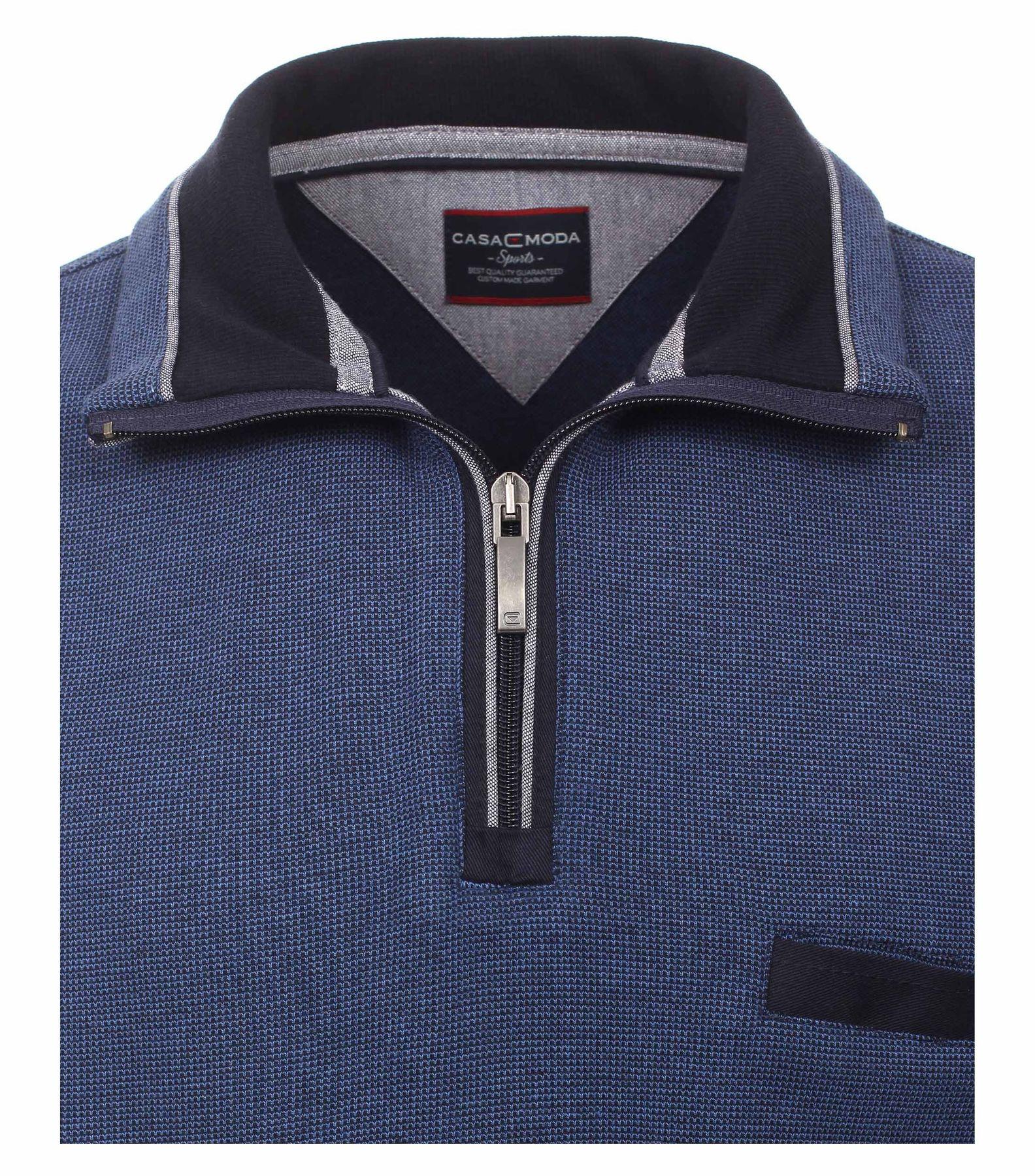 Casa Moda - Herren Troyer aus 100 % Baumwolle und mit abgesetztem Kragen (462522300 A) – Bild 3
