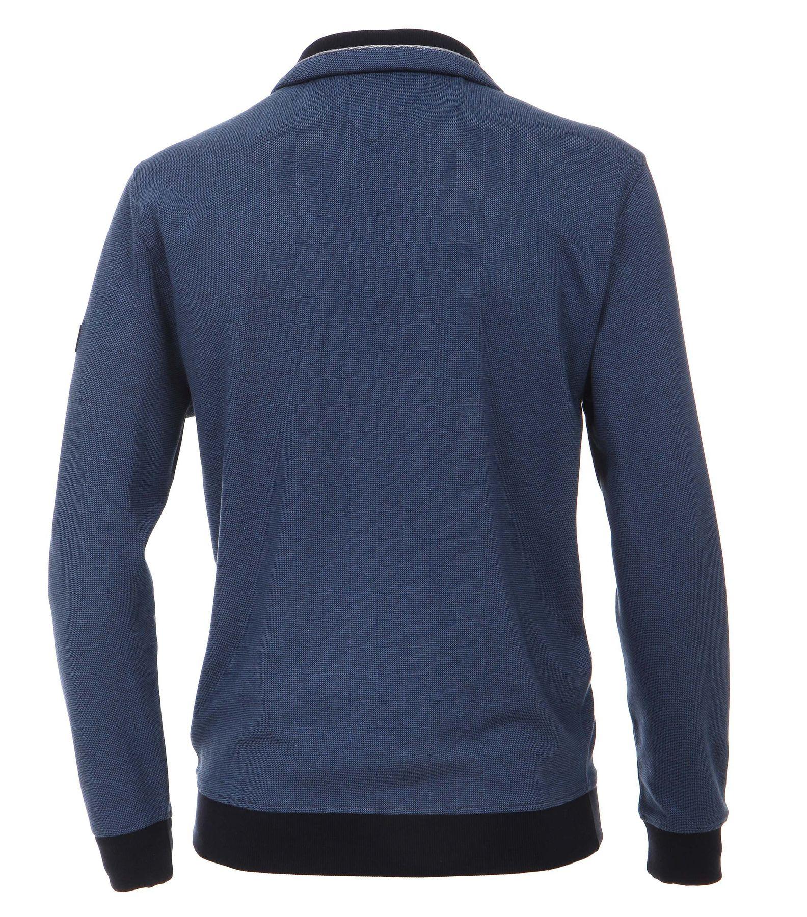 Casa Moda - Herren Troyer aus 100 % Baumwolle und mit abgesetztem Kragen (462522300 A) – Bild 4