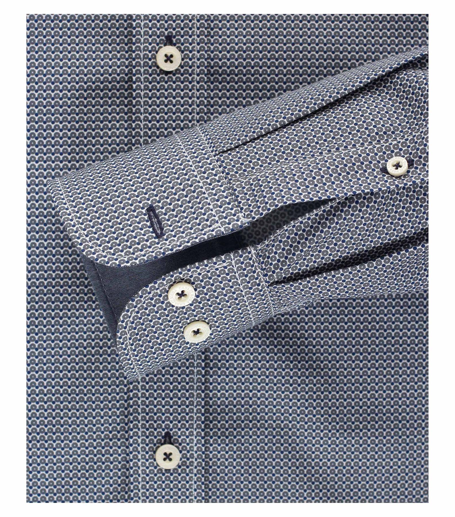 Casa Moda - Comfort Fit - Herren Hemd mit modischem Druck und Button-Down Kragen (462396100 A) – Bild 4