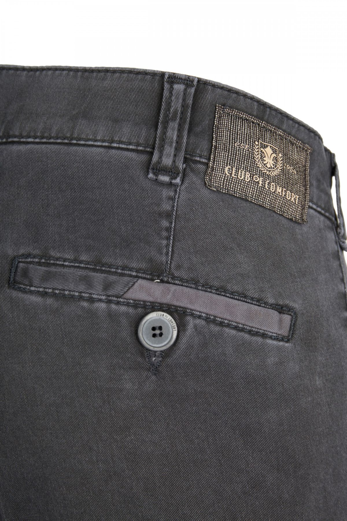 Club of Comfort - Herren Five Pocket Hose in Dunkelbraun oder Anthrazit, Keno (6421) – Bild 4