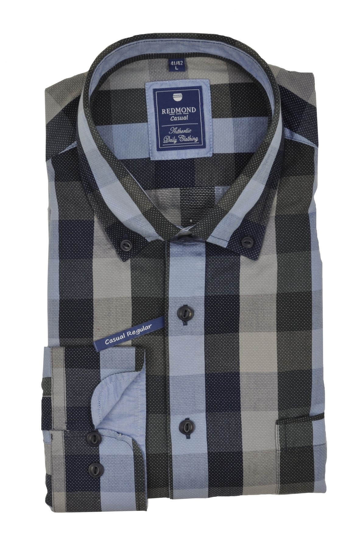 Redmond - Regular Fit - Herren Hemd mit Button-Down Kragen (62120111/62120333) – Bild 3