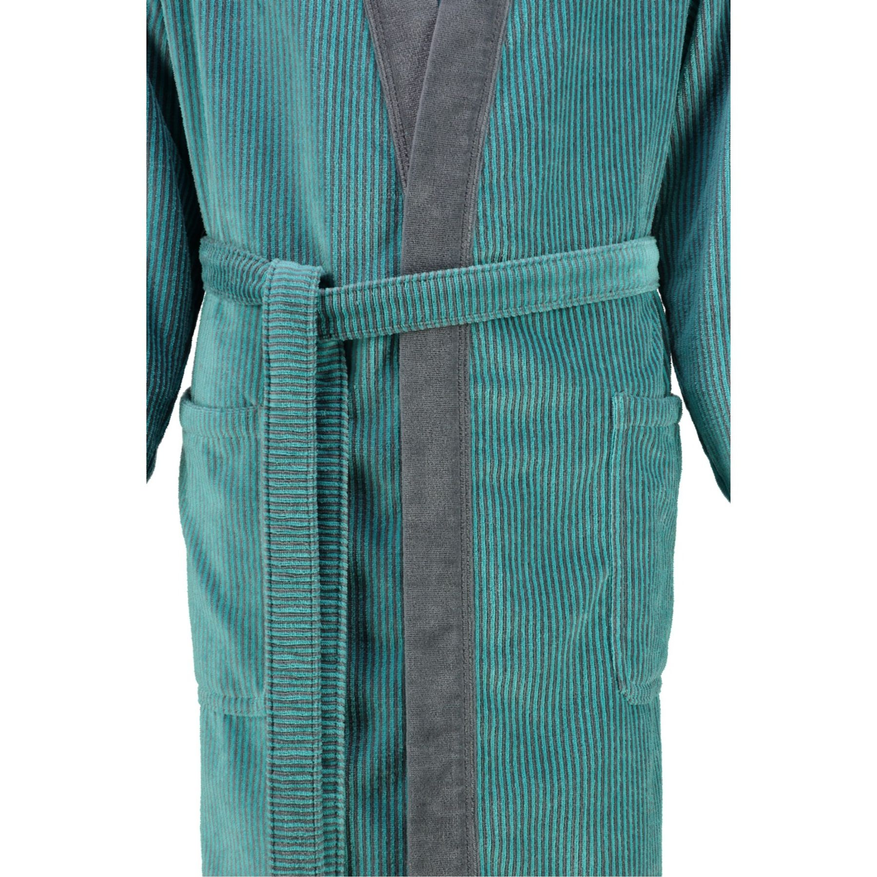 Cawö - Herren Velours Bademantel in Kimono Form (5840) – Bild 3