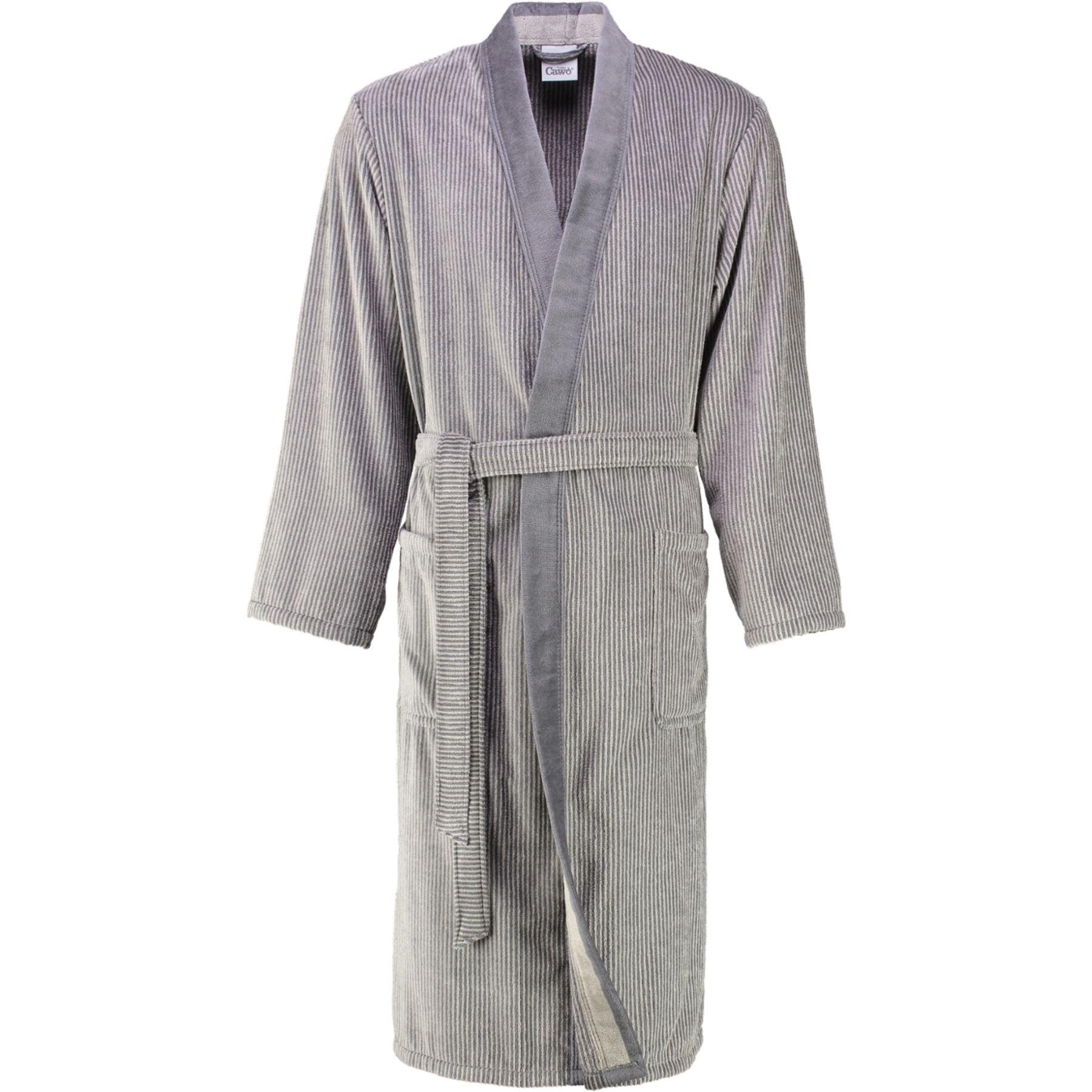 Cawö - Herren Velours Bademantel in Kimono Form (5840) – Bild 6