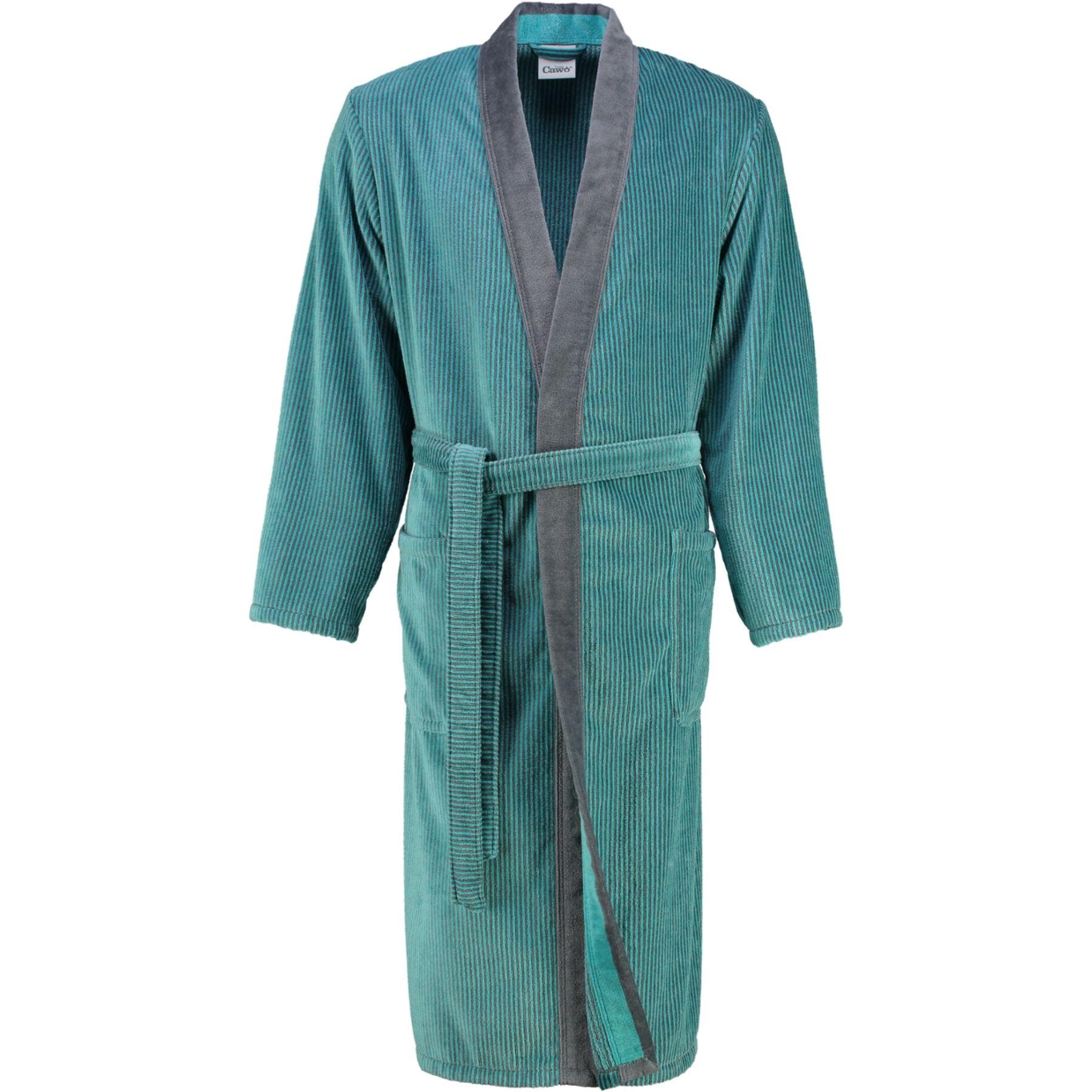 Cawö - Herren Velours Bademantel in Kimono Form (5840) – Bild 8