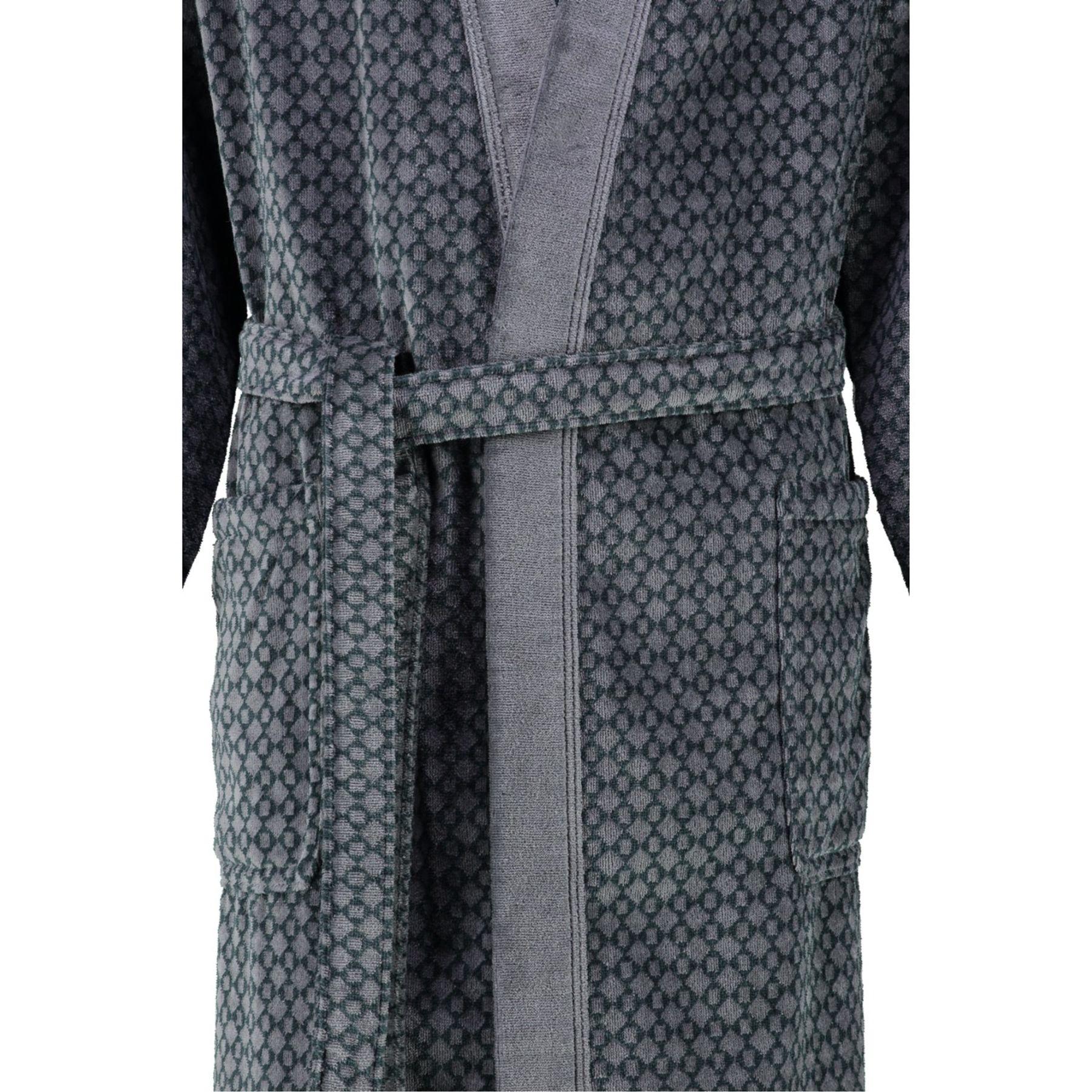 Cawö - Herren Velours Bademantel in Kimono Form (6843) – Bild 3