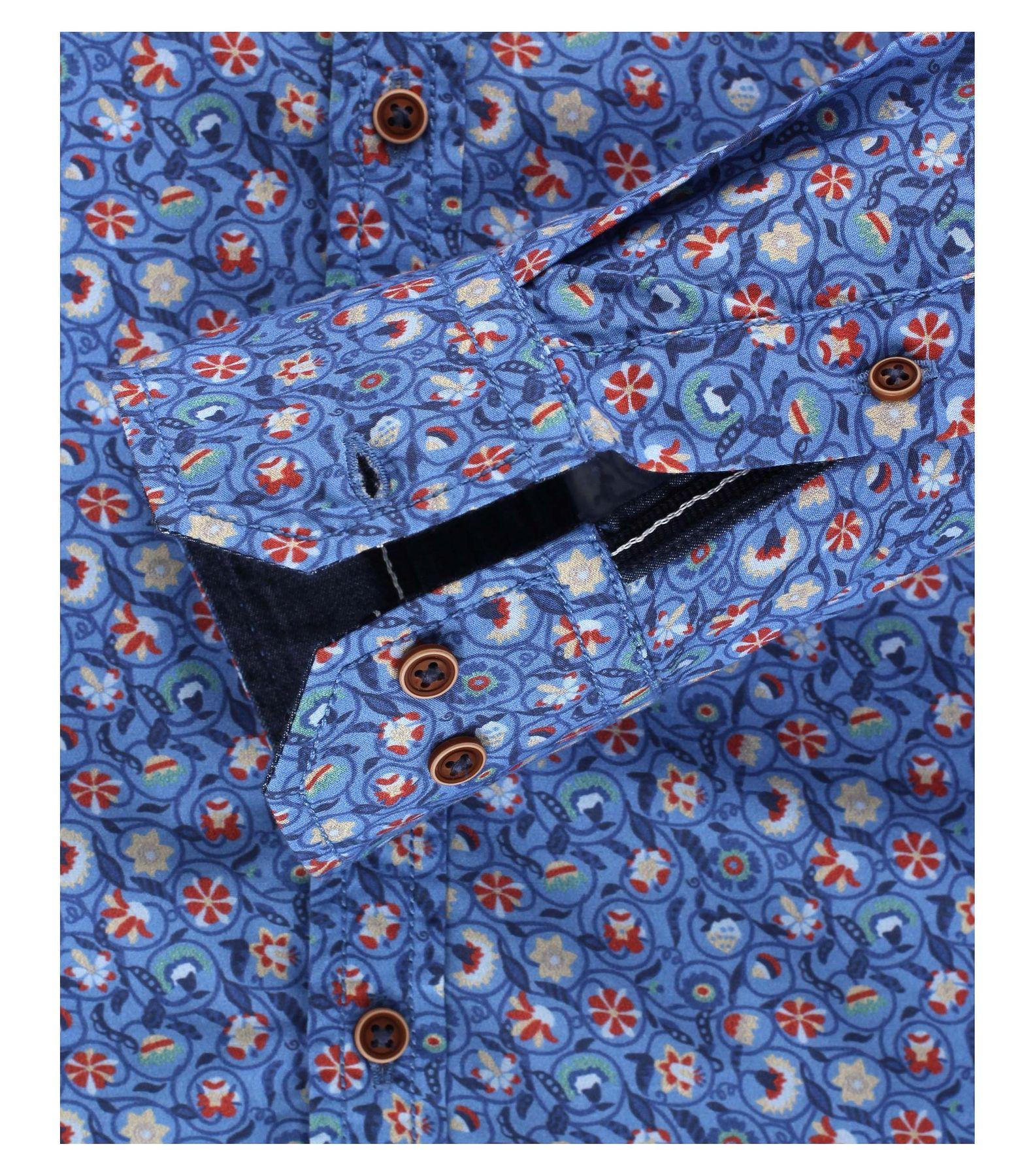 Venti - Slim Fit - Herren Langarm Hemd aus 100% Baumwolle mit modischem Druck (162538300 A) – Bild 3