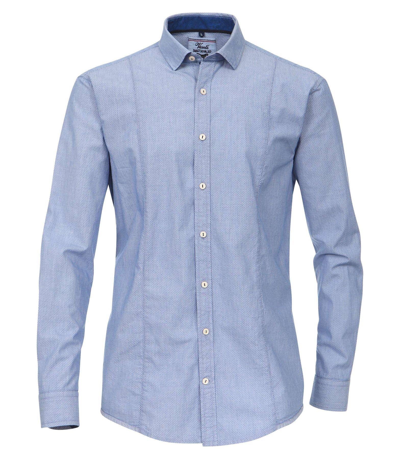 Venti - Slim Fit - Herren Langarm Hemd aus 100% Baumwolle mit Kent Kragen (162538400 A) – Bild 1