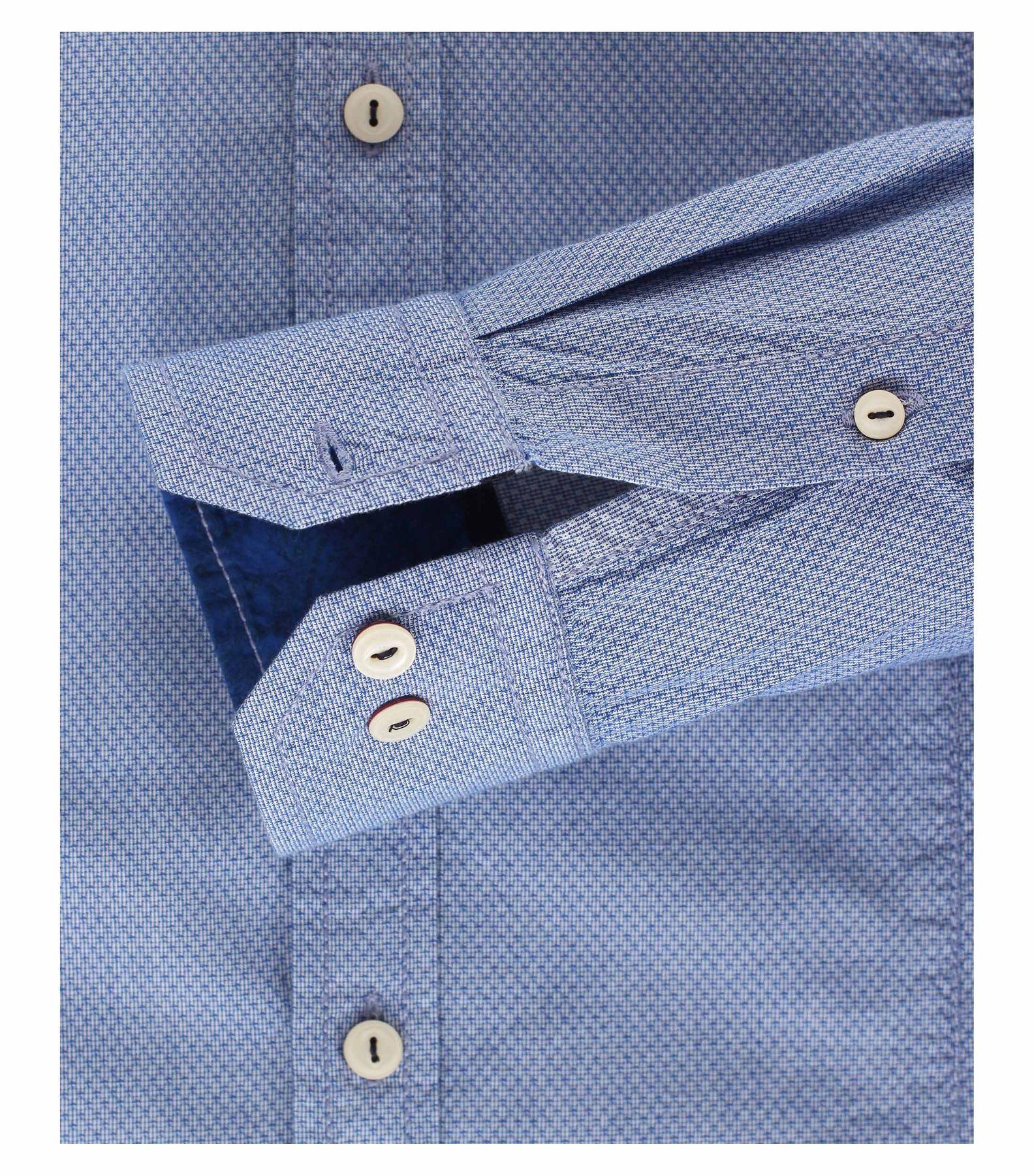 Venti - Slim Fit - Herren Langarm Hemd aus 100% Baumwolle mit Kent Kragen (162538400 A) – Bild 4