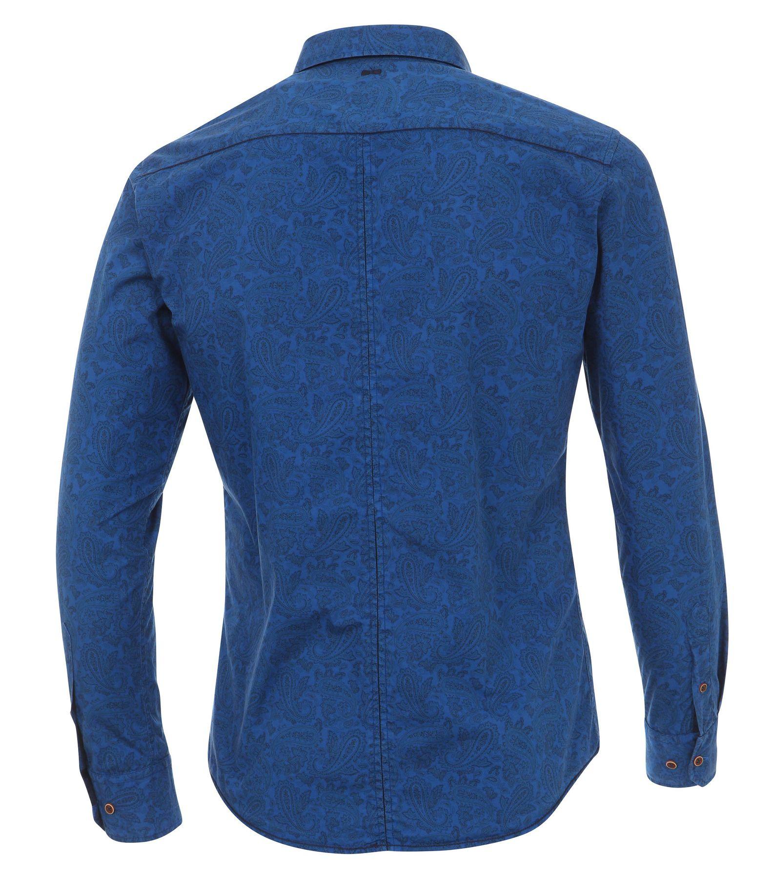 Venti - Slim Fit - Herren Langarm Hemd aus 100% Baumwolle mit Kent Kragen und modischem Druck (162538600 A) – Bild 2