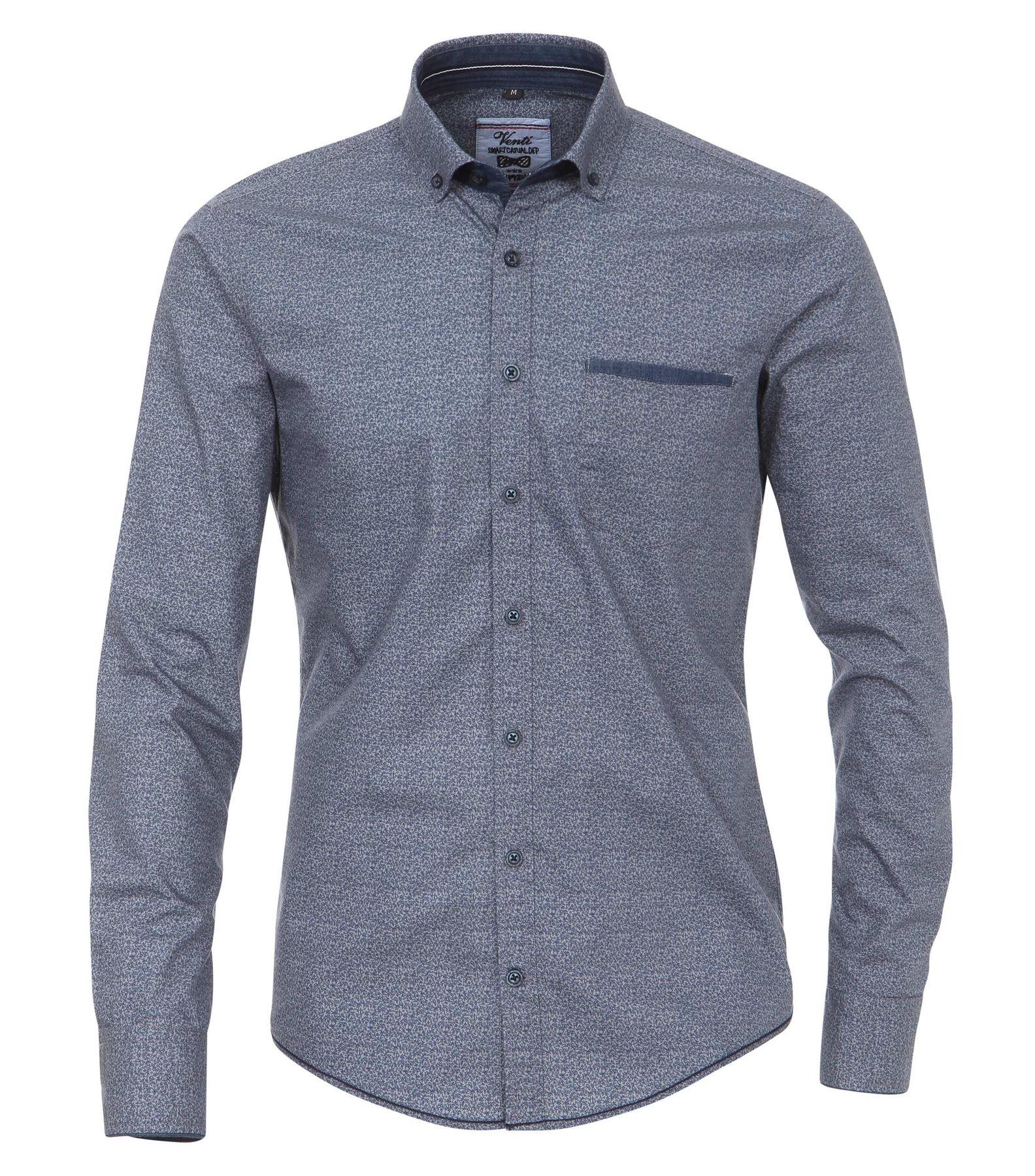 Venti - Slim Fit - Herren Langarm Hemd aus 100% Baumwolle mit Button Down Kragen (162539100 A) – Bild 1