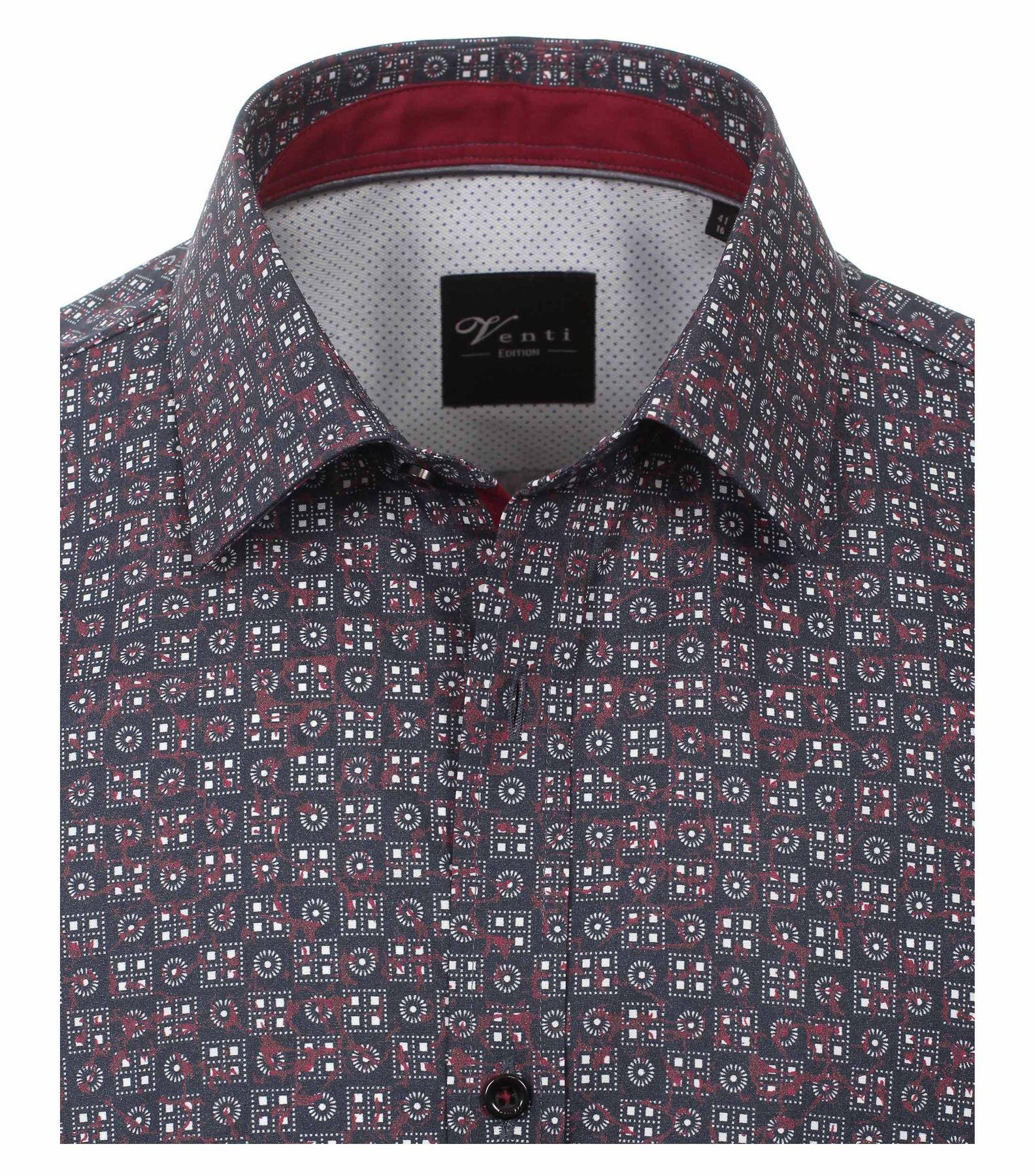 Venti - Slim Fit - Herren Langarm Hemd aus 100% Baumwolle mit Kent Kragen (162541800 A) – Bild 3