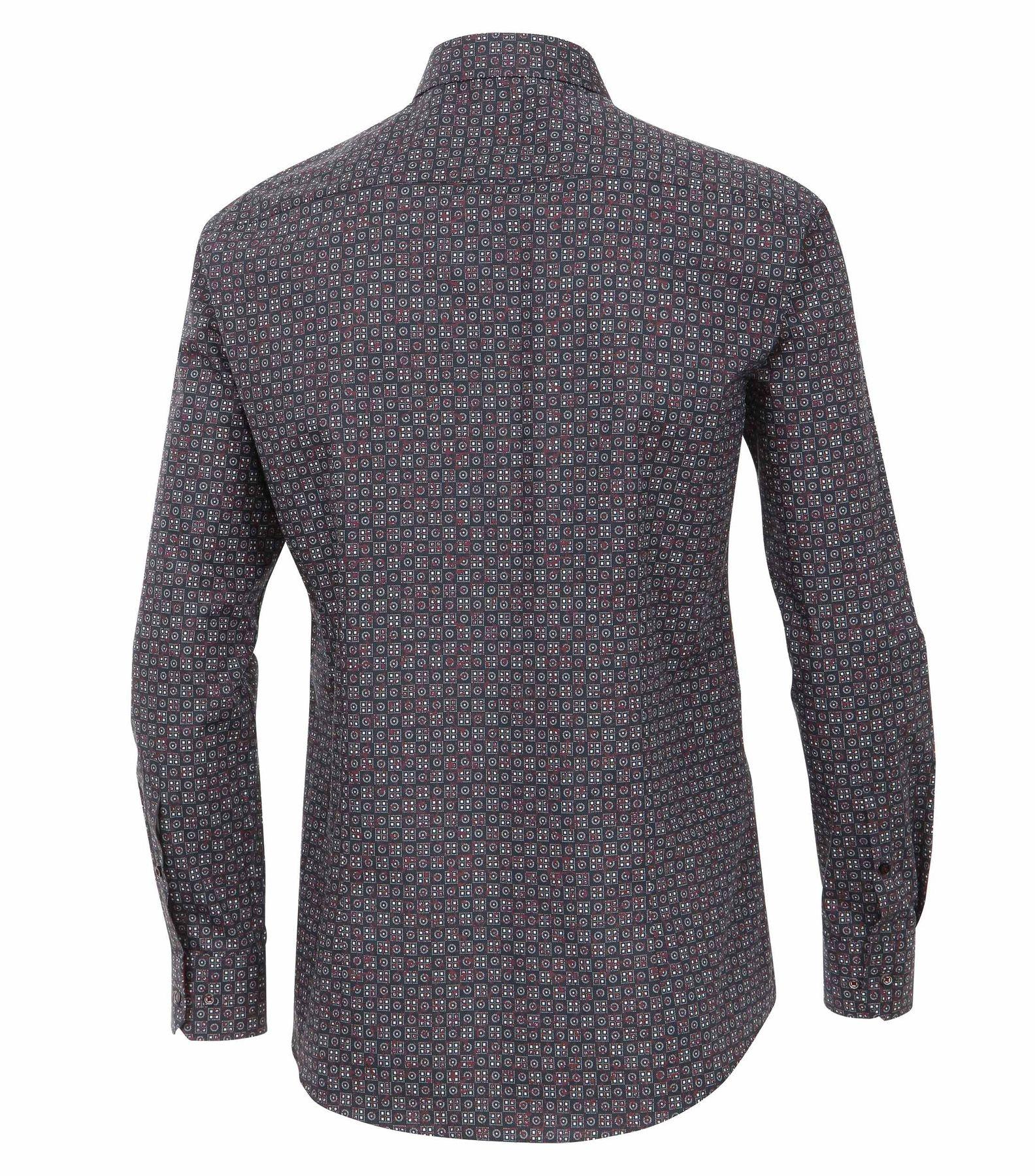 Venti - Slim Fit - Herren Langarm Hemd aus 100% Baumwolle mit Kent Kragen (162541800 A) – Bild 2
