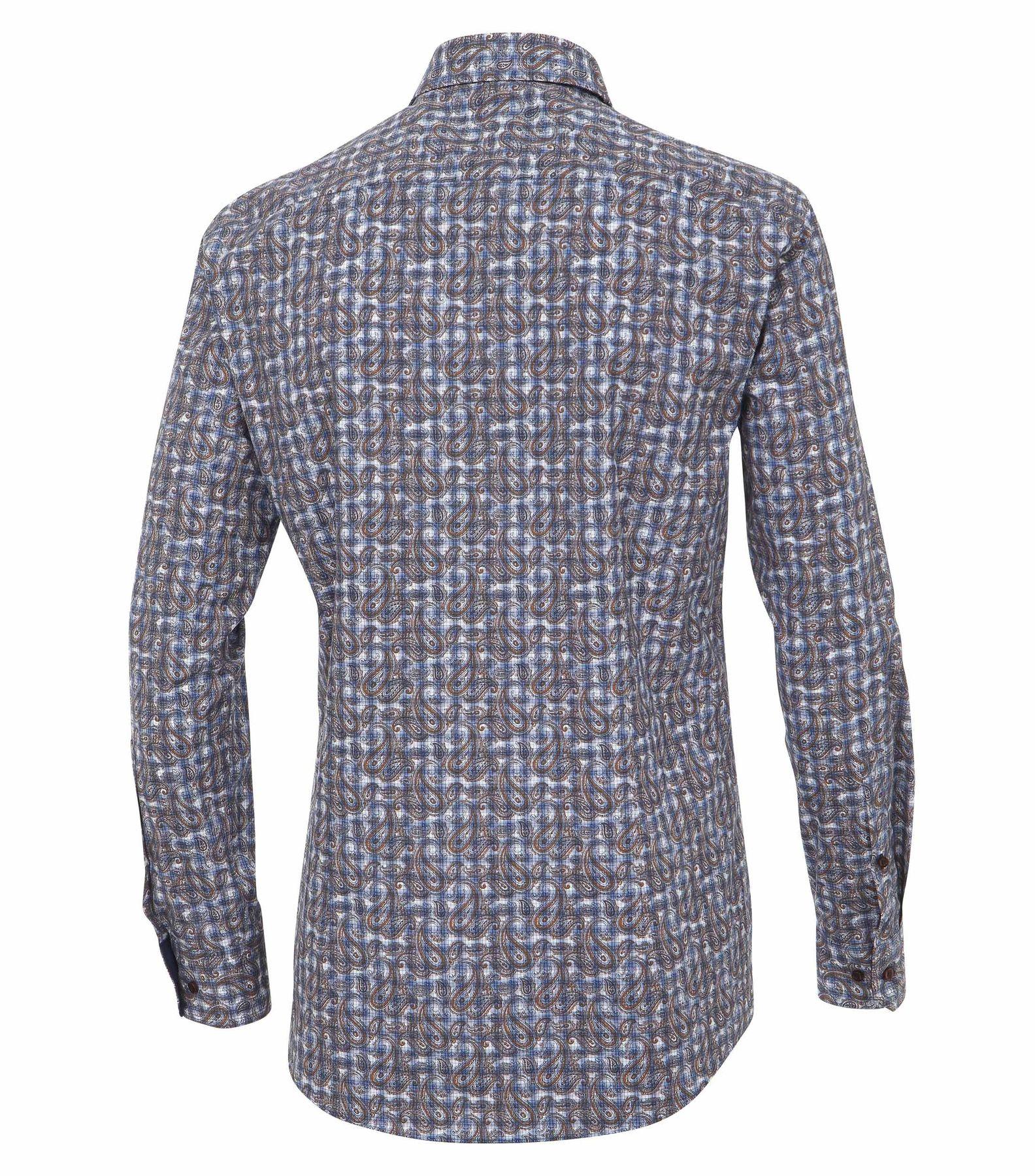 Venti - Slim Fit - Herren Langarm Hemd aus 100% Baumwolle mit Kent Kragen (162544200 A) – Bild 2