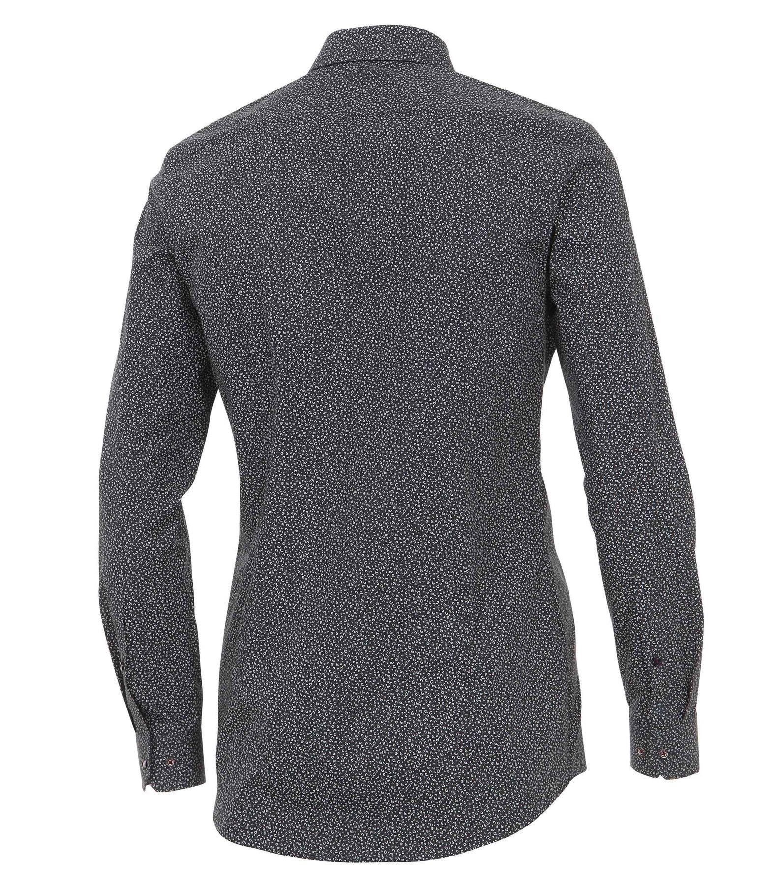 Venti - Body Fit - Herren Langarm Hemd aus 100% Baumwolle mit Kent Kragen und modischem Druck (162545400A) – Bild 2