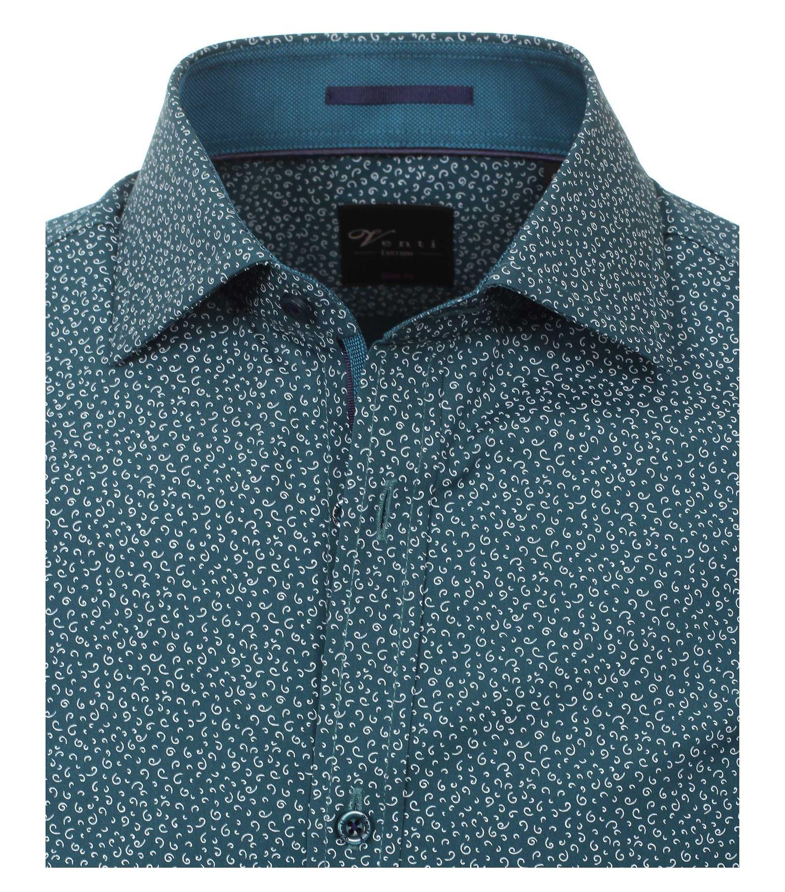 Venti - Body Fit - Herren Langarm Hemd aus 100% Baumwolle mit Kent Kragen und modischem Druck (162545400A) – Bild 7