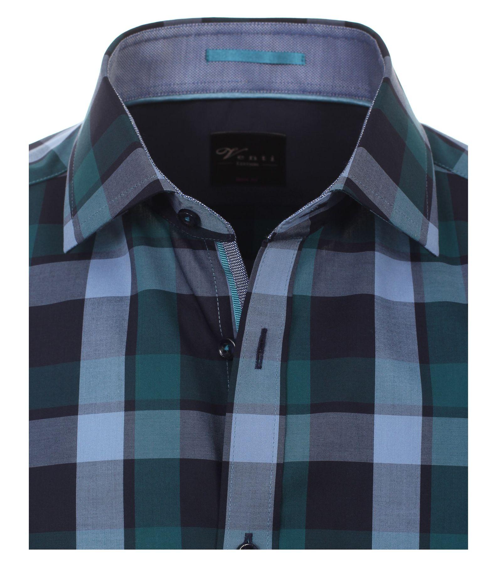 Venti - Body Fit - Herren Langarm Karo Popeline Hemd aus 100% Baumwolle mit Kent Kragen (162546100A) – Bild 3
