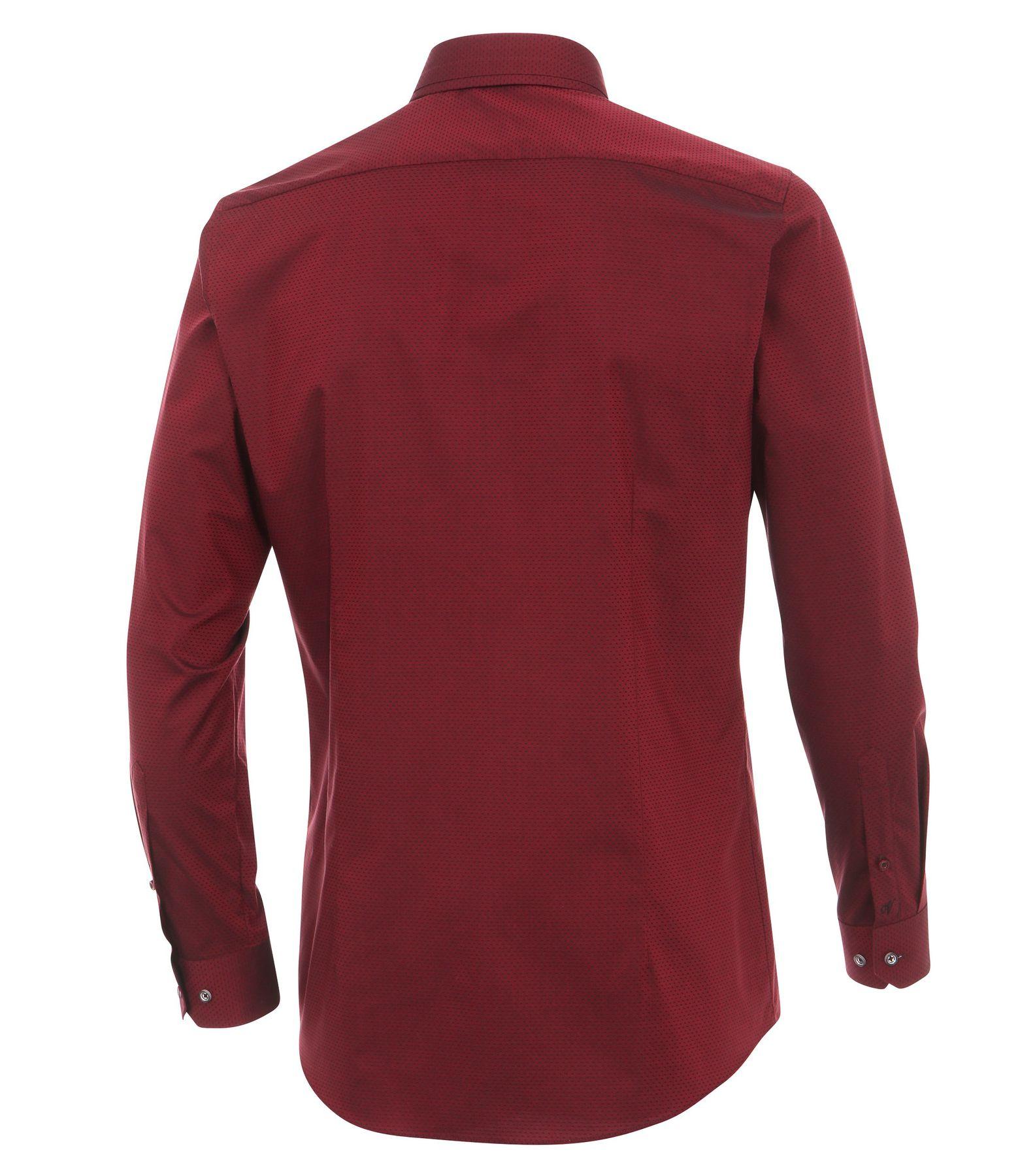 Venti - Body Fit - Herren Langarm Hemd aus 100% Baumwolle mit Button-Down Kragen (162546600 A) – Bild 2