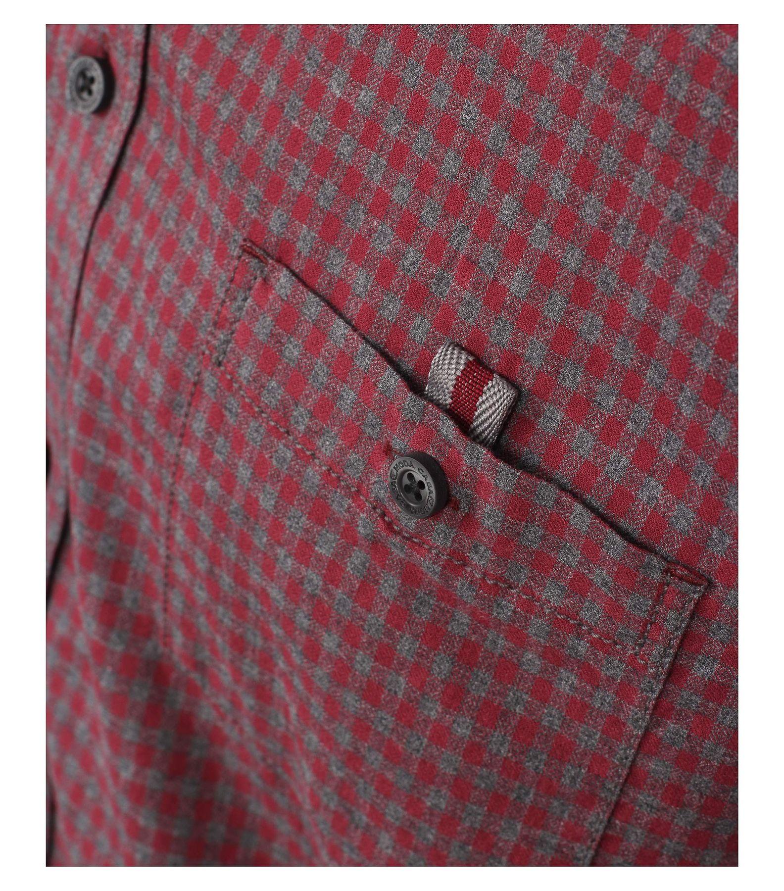 Casa Moda - Casual Fit - Herren langarm Hemd mit Kent Kragen und aus 100% Baumwolle (462554500A) – Bild 5