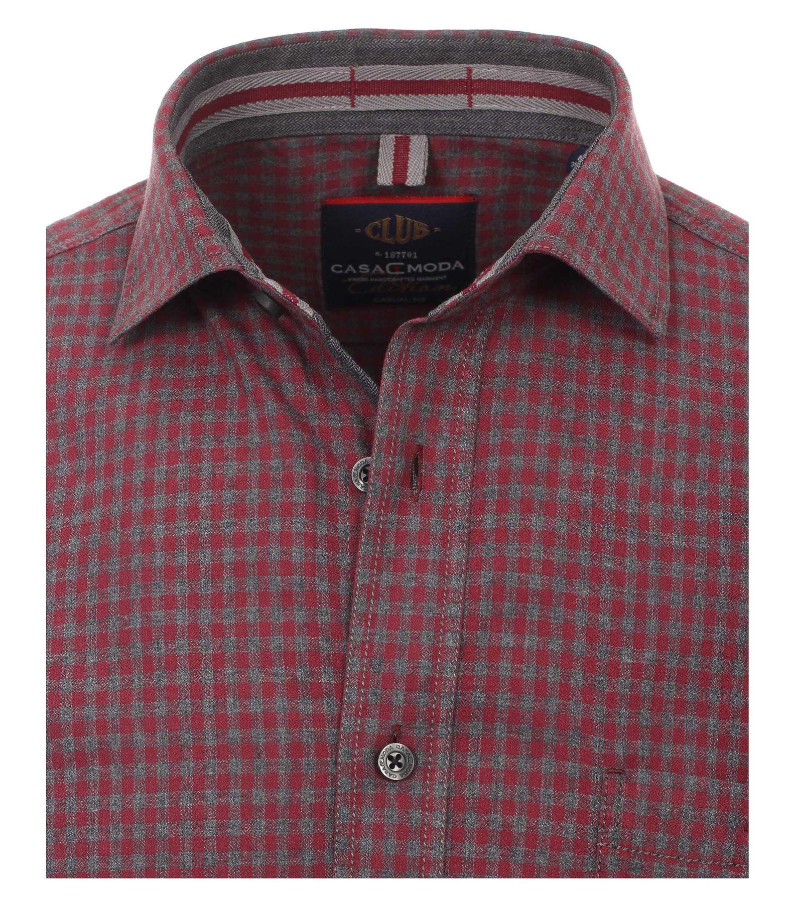 Casa Moda - Casual Fit - Herren langarm Hemd mit Kent Kragen und aus 100% Baumwolle (462554500A) – Bild 3