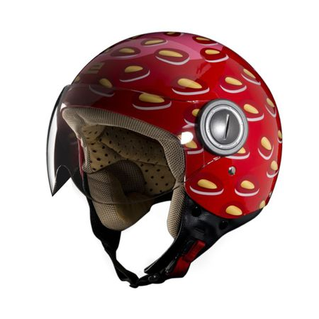 EXCLUSIVE Jet-Helm Vogue Strawberry, rot – Bild 1
